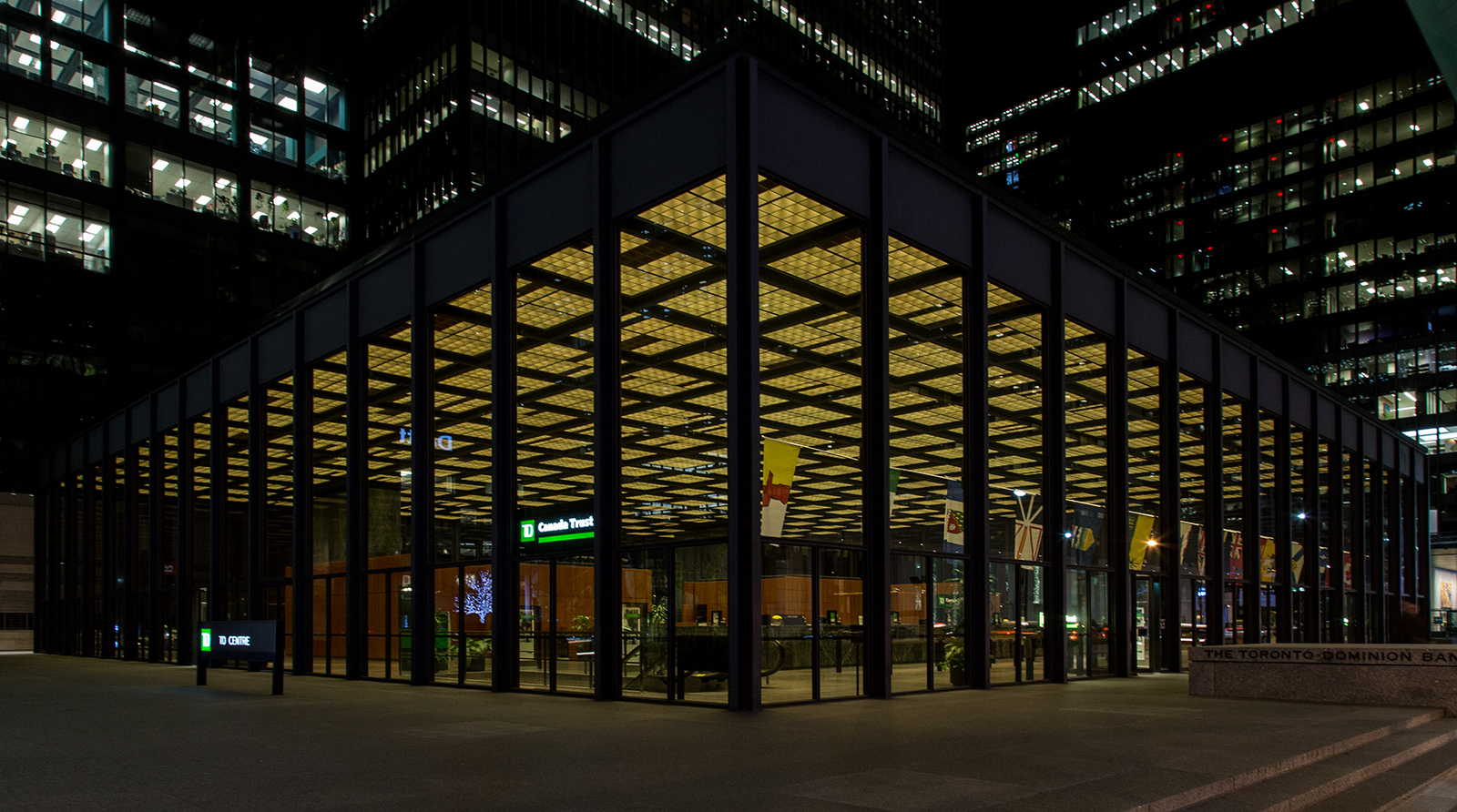 Photo 20131121. Mies van der Rohe's banking pavilion at the TD Centre, Toronto.