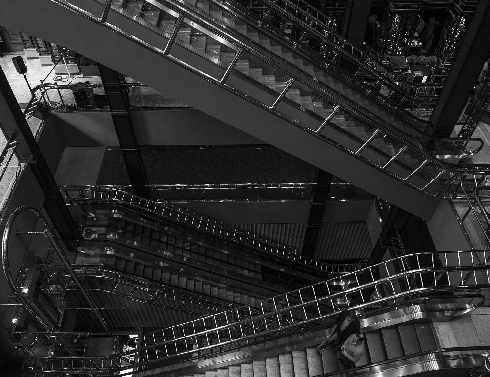 """Photo 20131223. """"Going down or up the escalators at the Sheraton hotel in Toronto"""" #2."""