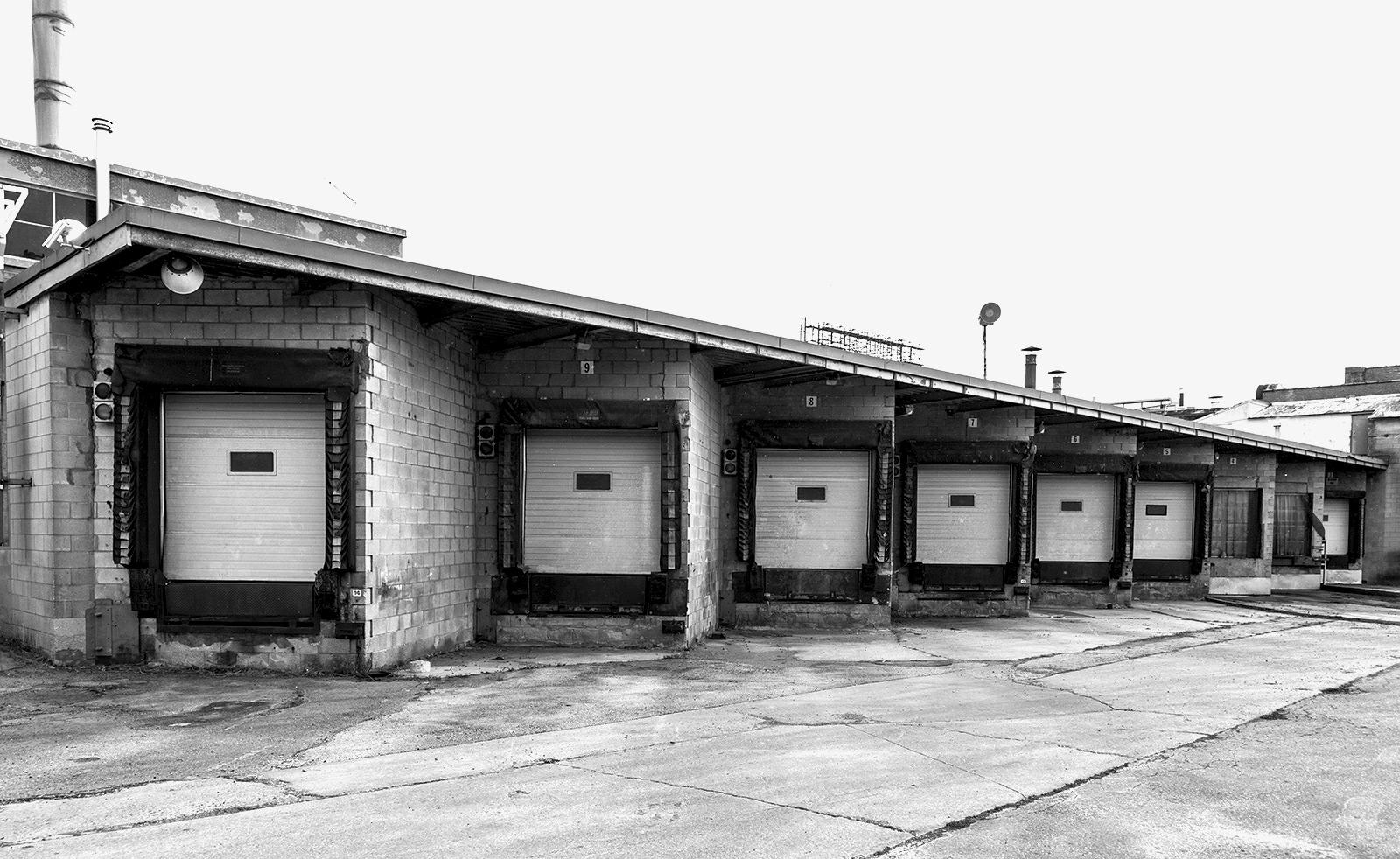 20140104. Canada Bread's loading dock has seen its last shipment. Liberty Village, Toronto.