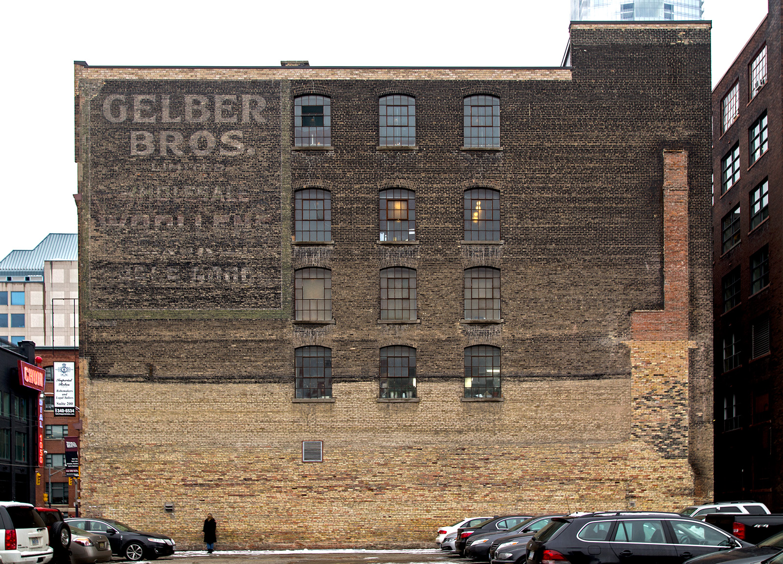 20140111. In the 1920s, 225 Richmond St. W was the Gelber Brothers Wholesale Woollens & Yard Goods warehouse.