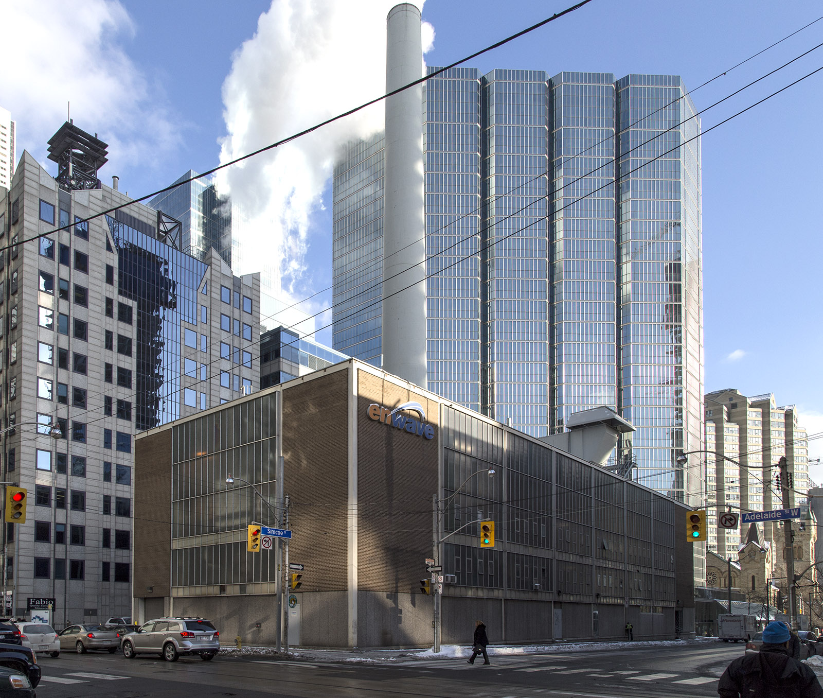 20140211. Enwave's Pearl Street Station generates steam to heat 140 buildings in downtown Toronto.