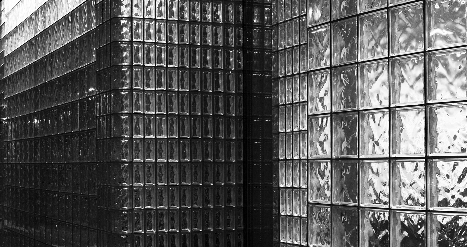 20140313 Grayscale Glass Block Wall Minimal Aesthetic