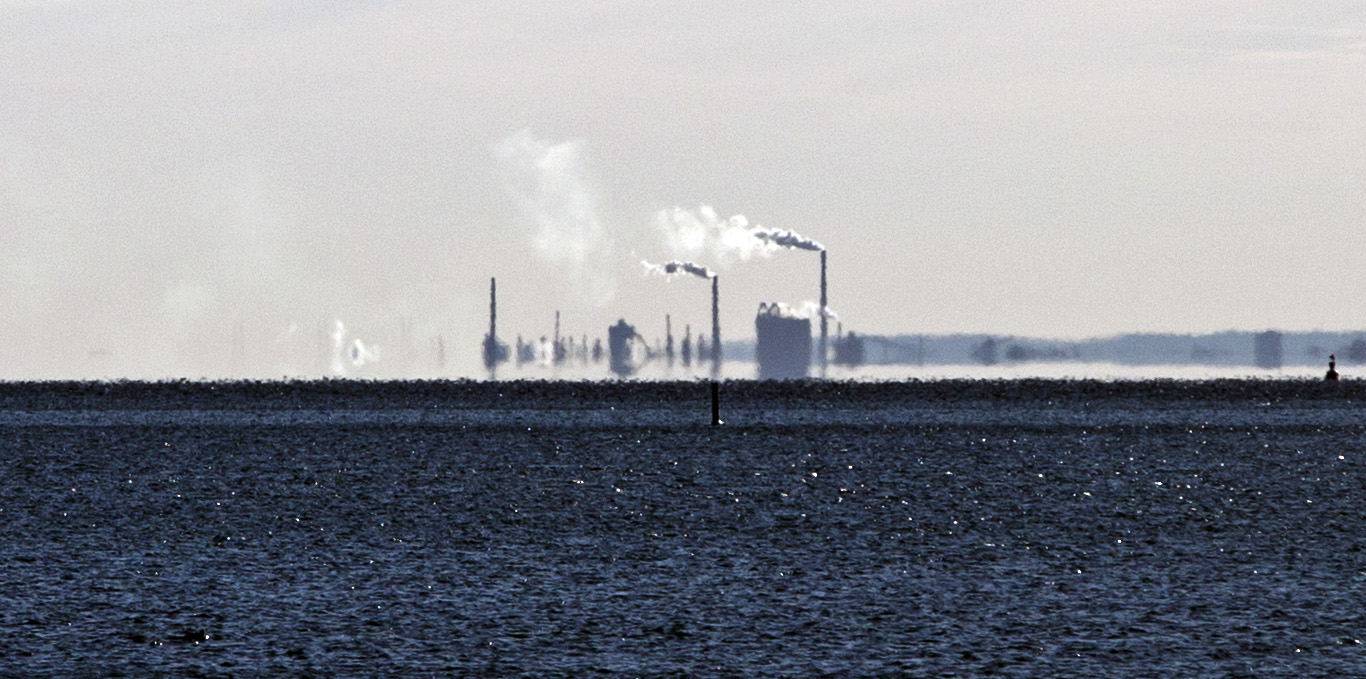20140317. Suncor's Mississauga Lubricants Centre is visible from the Bathurst St. Slip across from the island airport in Toronto.