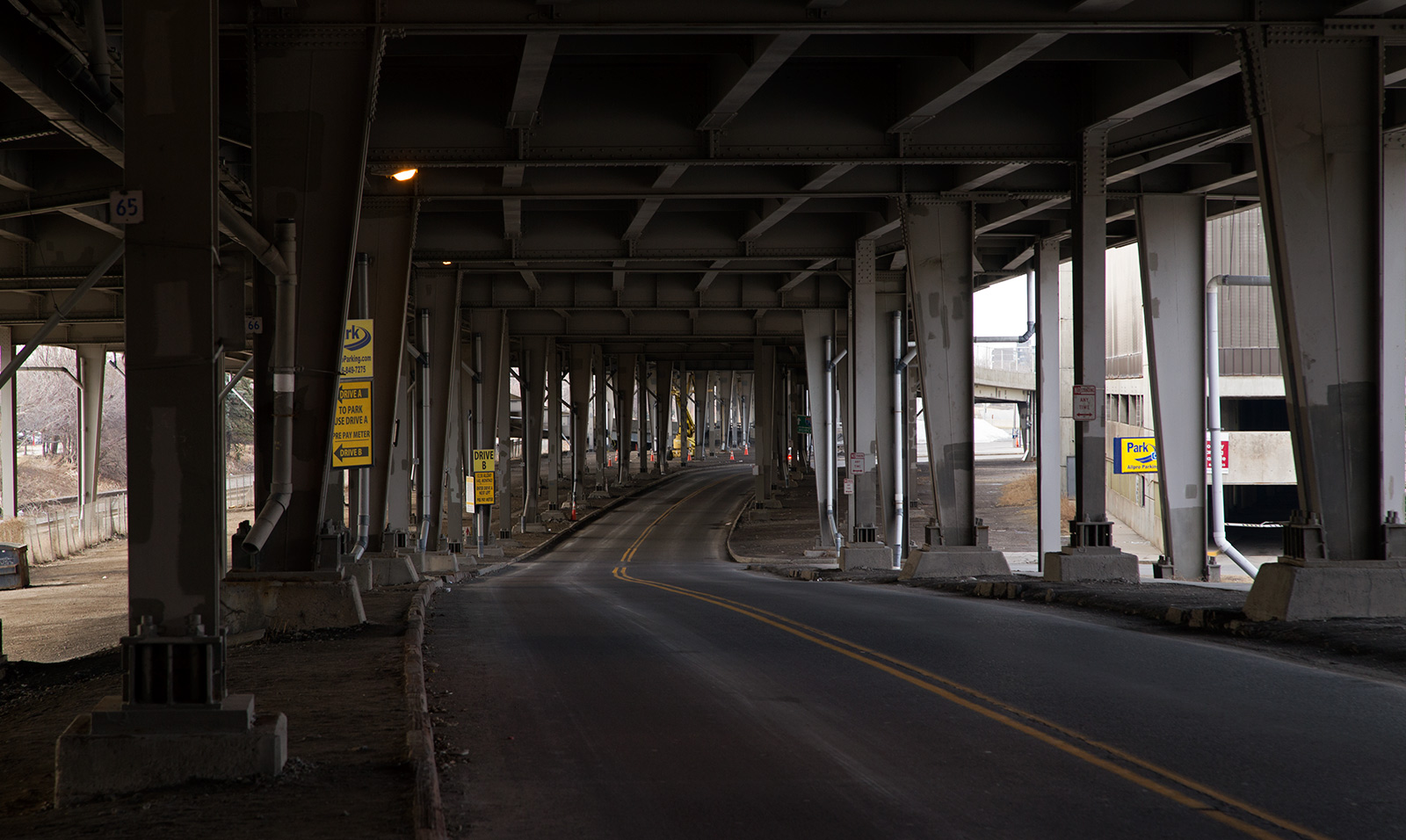 20140505. Under the I-190 in Buffalo - reminicent of being under the Gardiner Expressway in Toronto.
