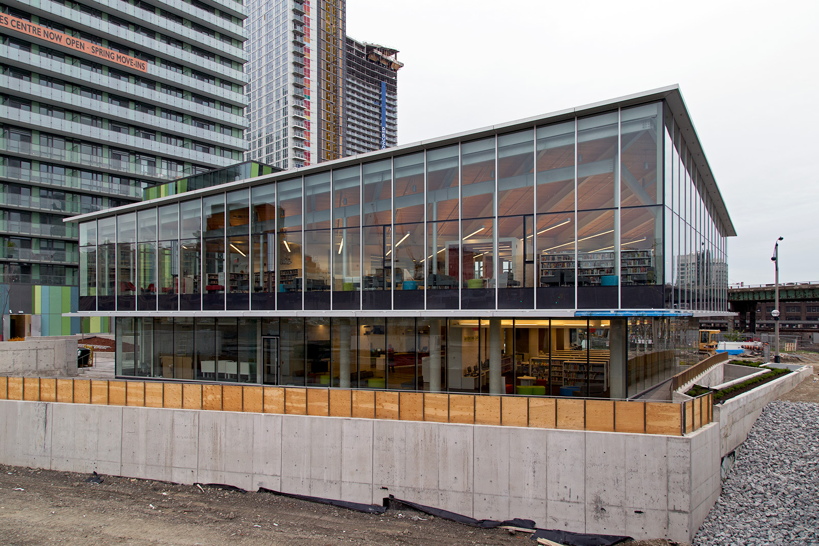 20140521. The Fort York Branch, the 99th Toronto Public Library is almost ready (Bathurst St and Fort York Blvd).