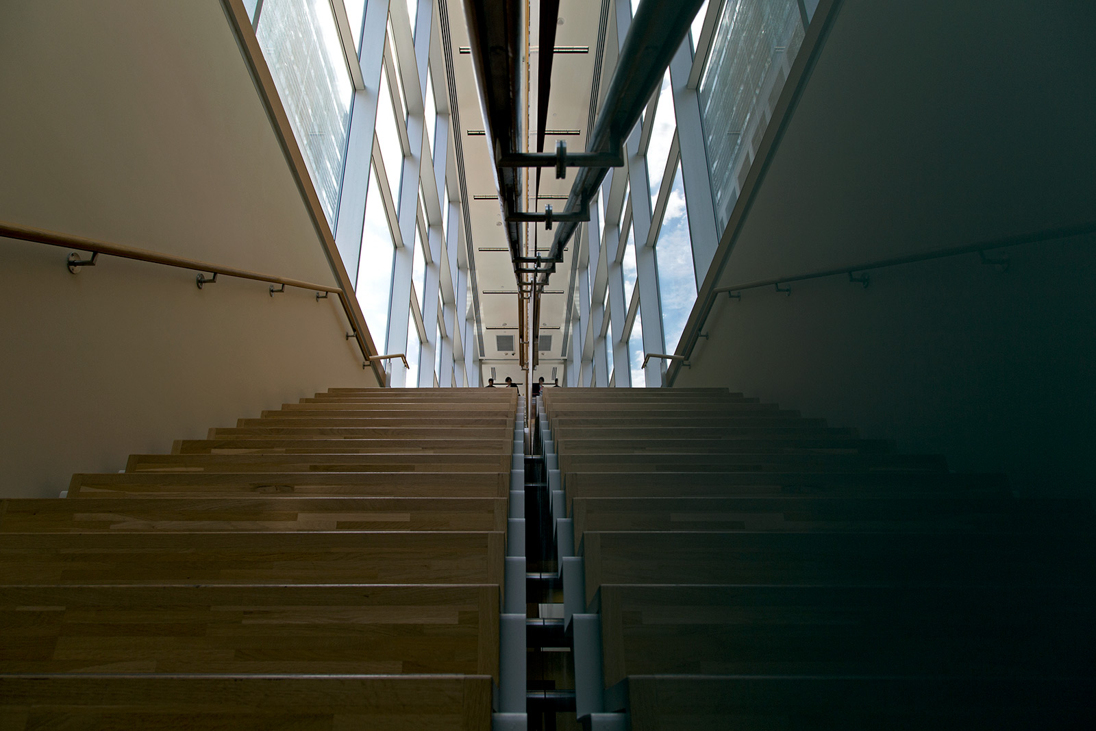 20140530. The reflection of the other stairs at the Li Ka Shing Knowledge Institute (Toronto).