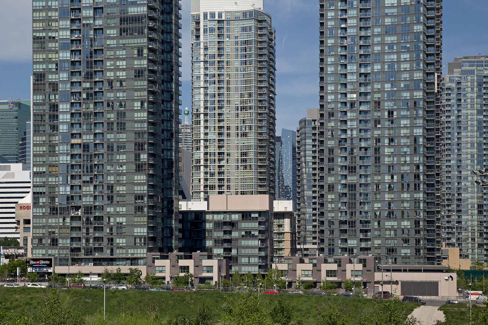 20140601. The CityPlace sea of condominiums in Toronto.