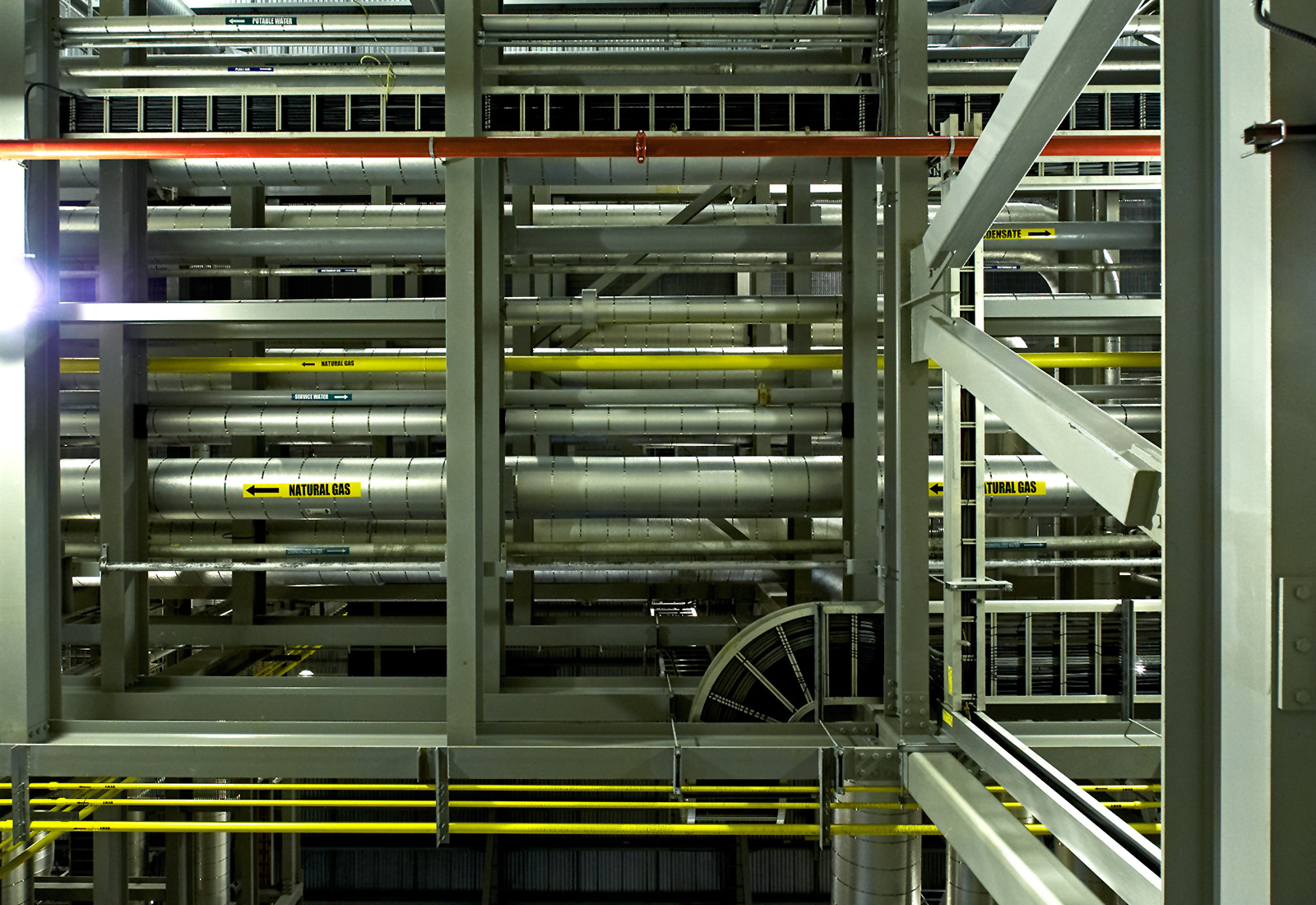 20140612. Above your head inside the Portlands Energy Centre (natural gas powerplant) in Toronto.
