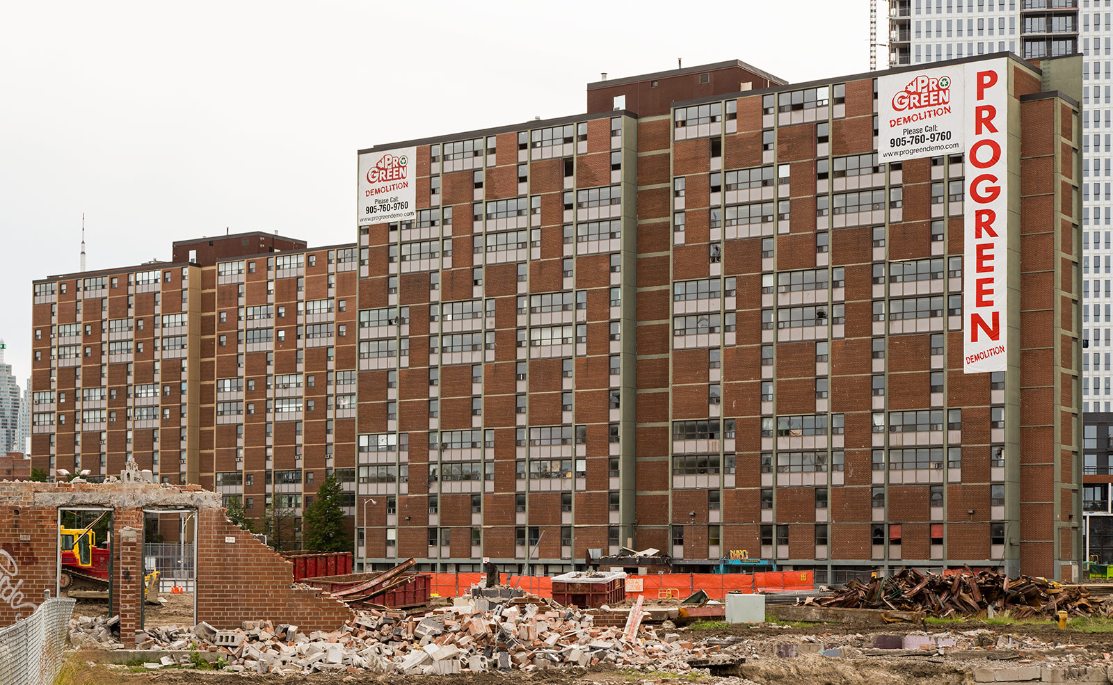 20140622. Phase 3 of Regent Park's redevelopment involves the demolition of a 1958 Peter Dickinson modernist highrise.