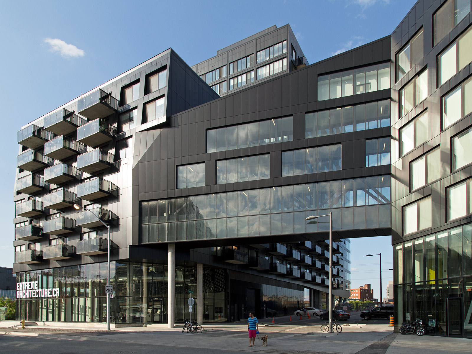 20140628. River City Phase 1 - the condominiums clad in black