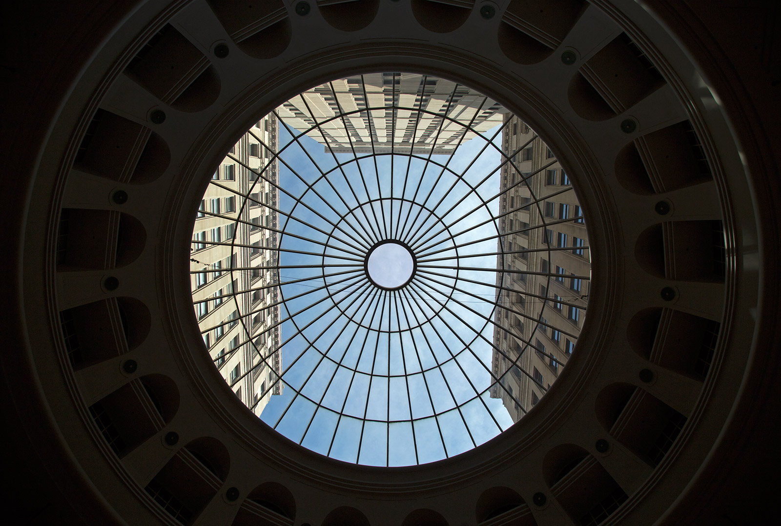 20140725. Cleveland's Tower City Center skylight.