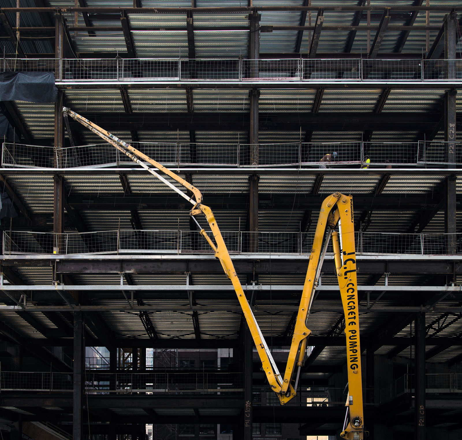 20140801. The Canadarm of concrete pumping stands out Toronto's