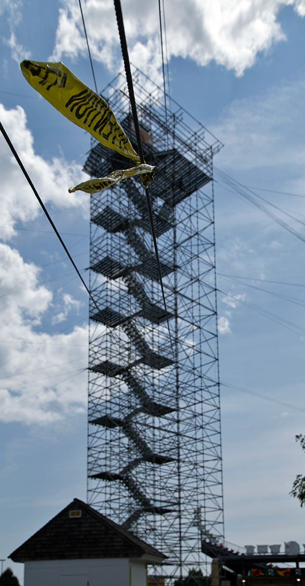 20140807. Attention! Go ziplining at Toronto's EX this year from