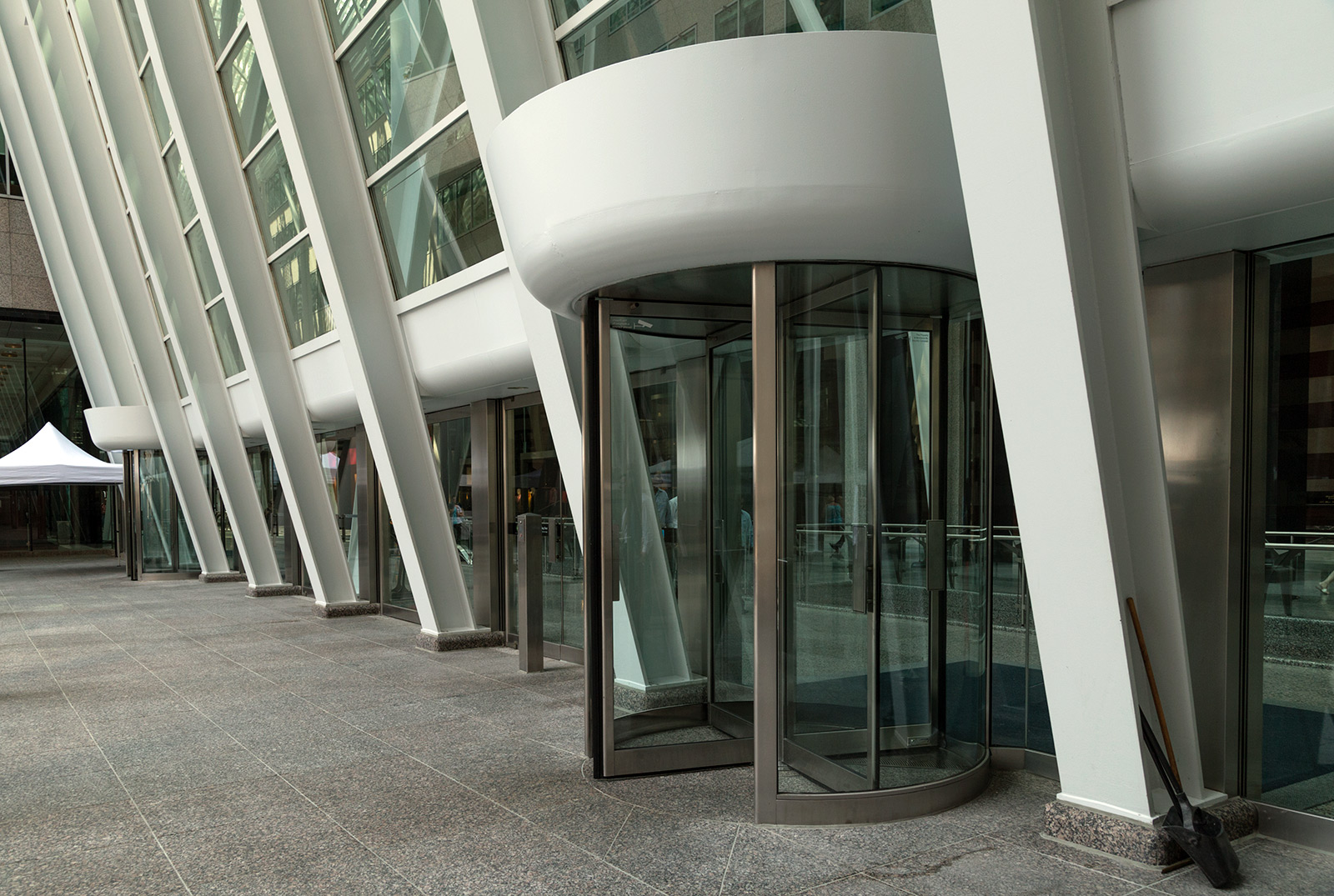 """20140909. White-capped revolving door in the """"Ontario Place arch"""
