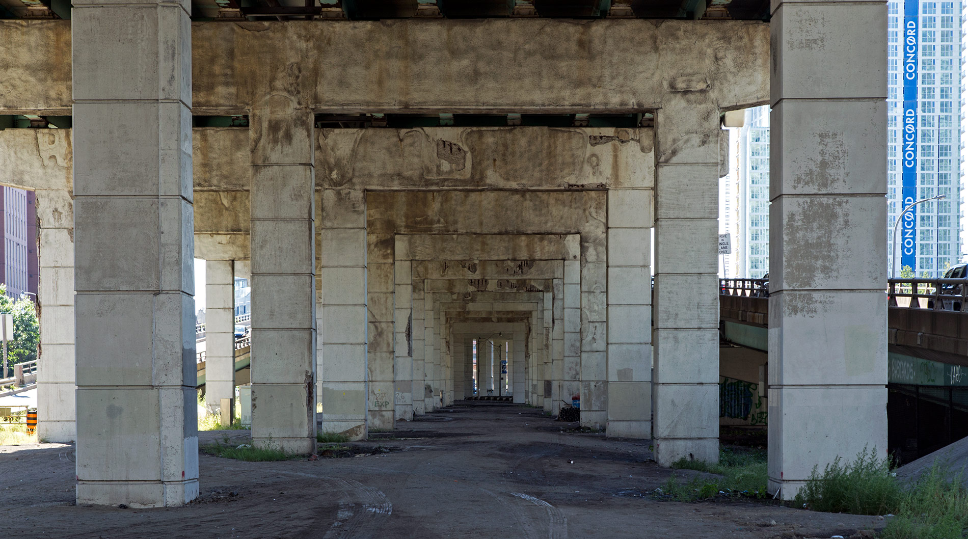 20140911. Underneath the Gardiner Expressway grime, Toronto.