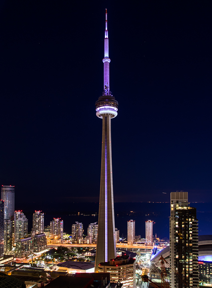 20141014. From this height and viewpoint the CN Tower dwarfs eve