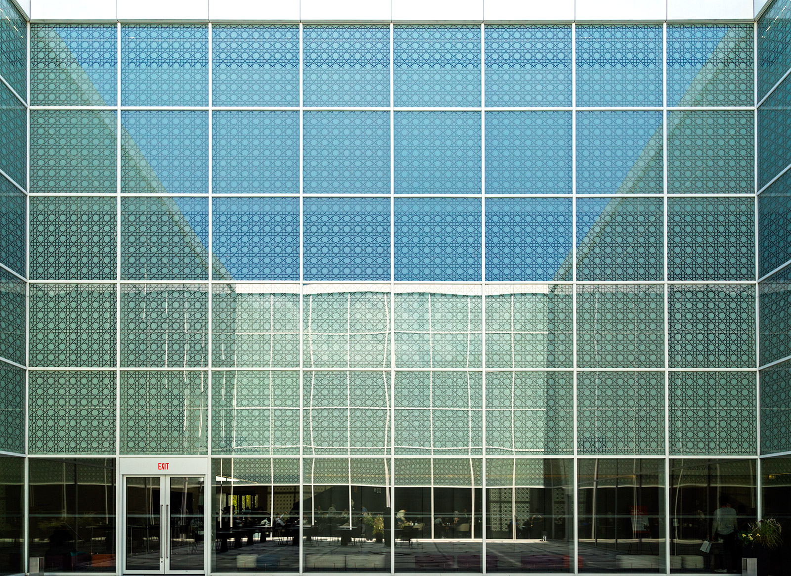 20141122. Reflections in the Aga Khan Museum's courtyard.
