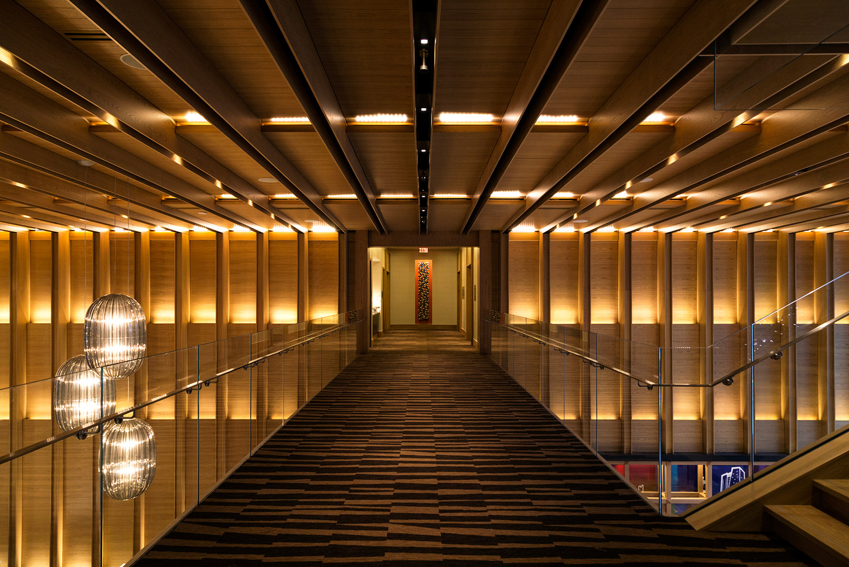 20141126. Gawking at Delta Toronto's stunning hotel lobby from t