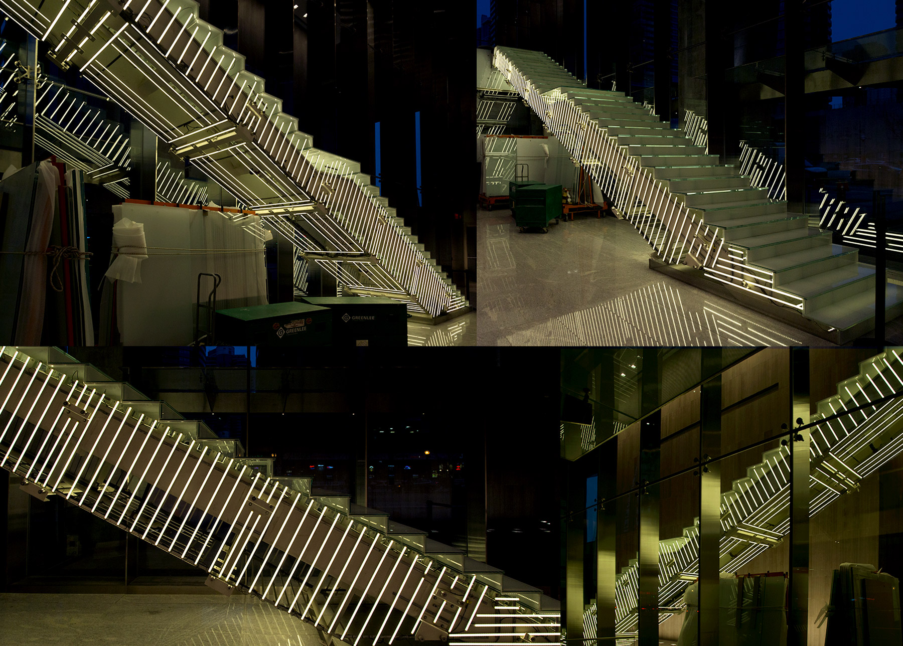 20141202. The impressive light stairs at Toronto's recently open
