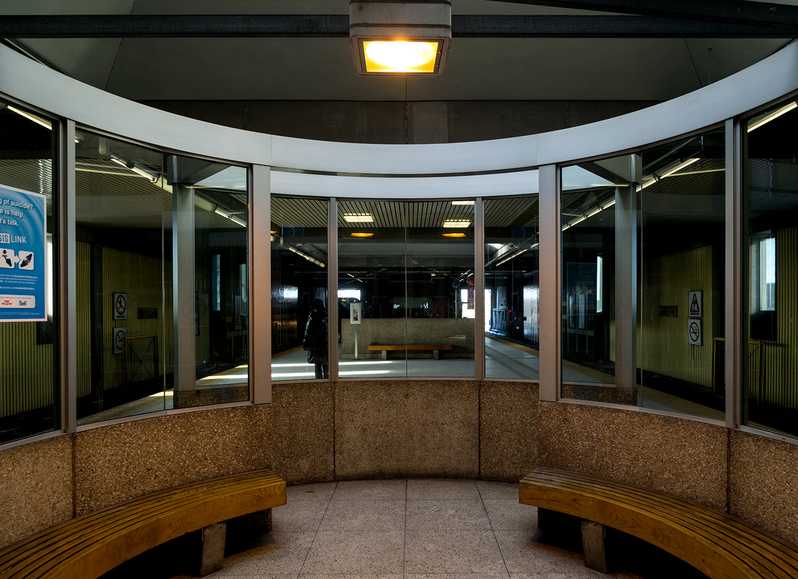 20150202. The curved concrete modernism of Toronto's TTC Wilson