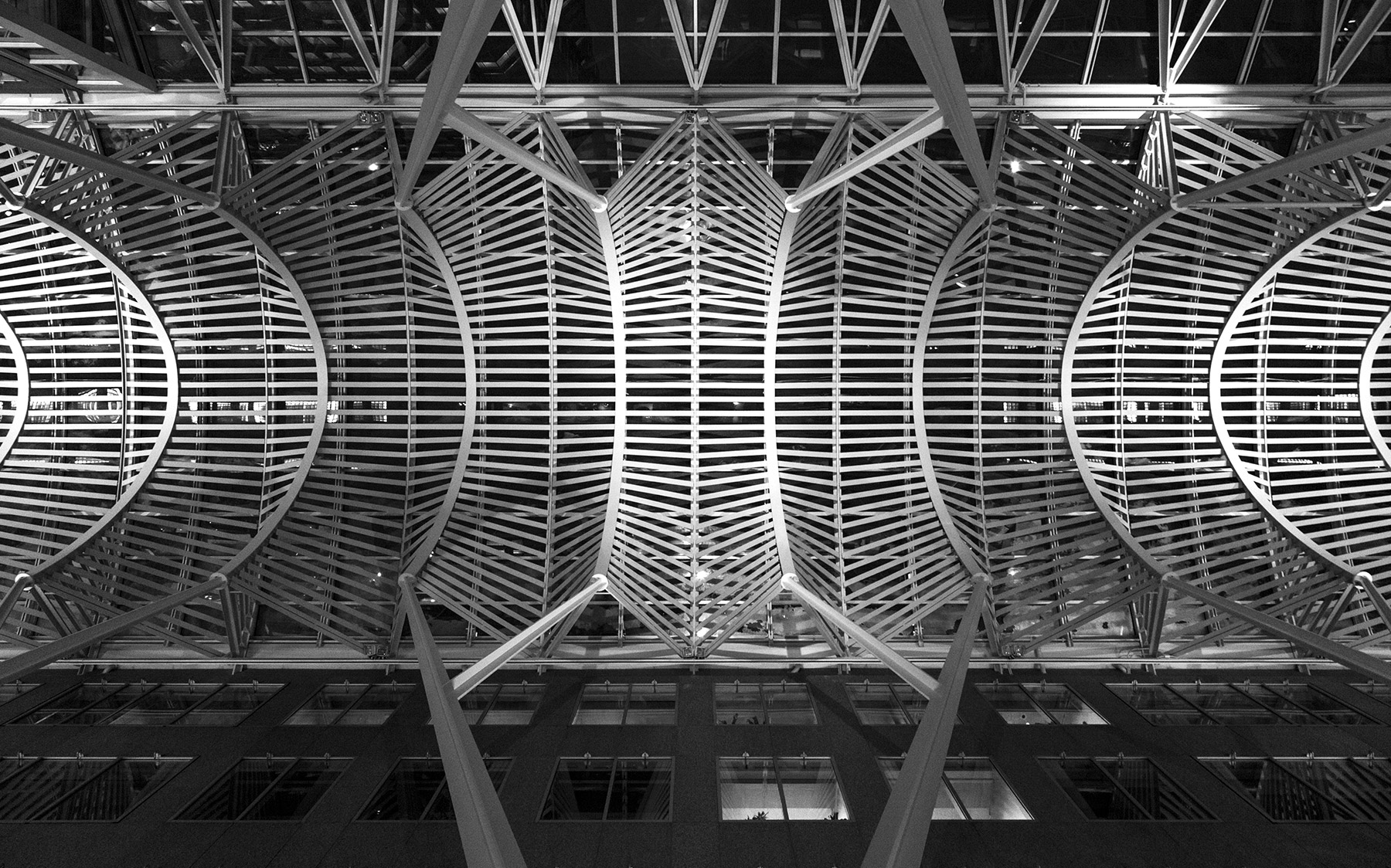 20150211. Below the metal canopy of the Allen Lambert Galleria a