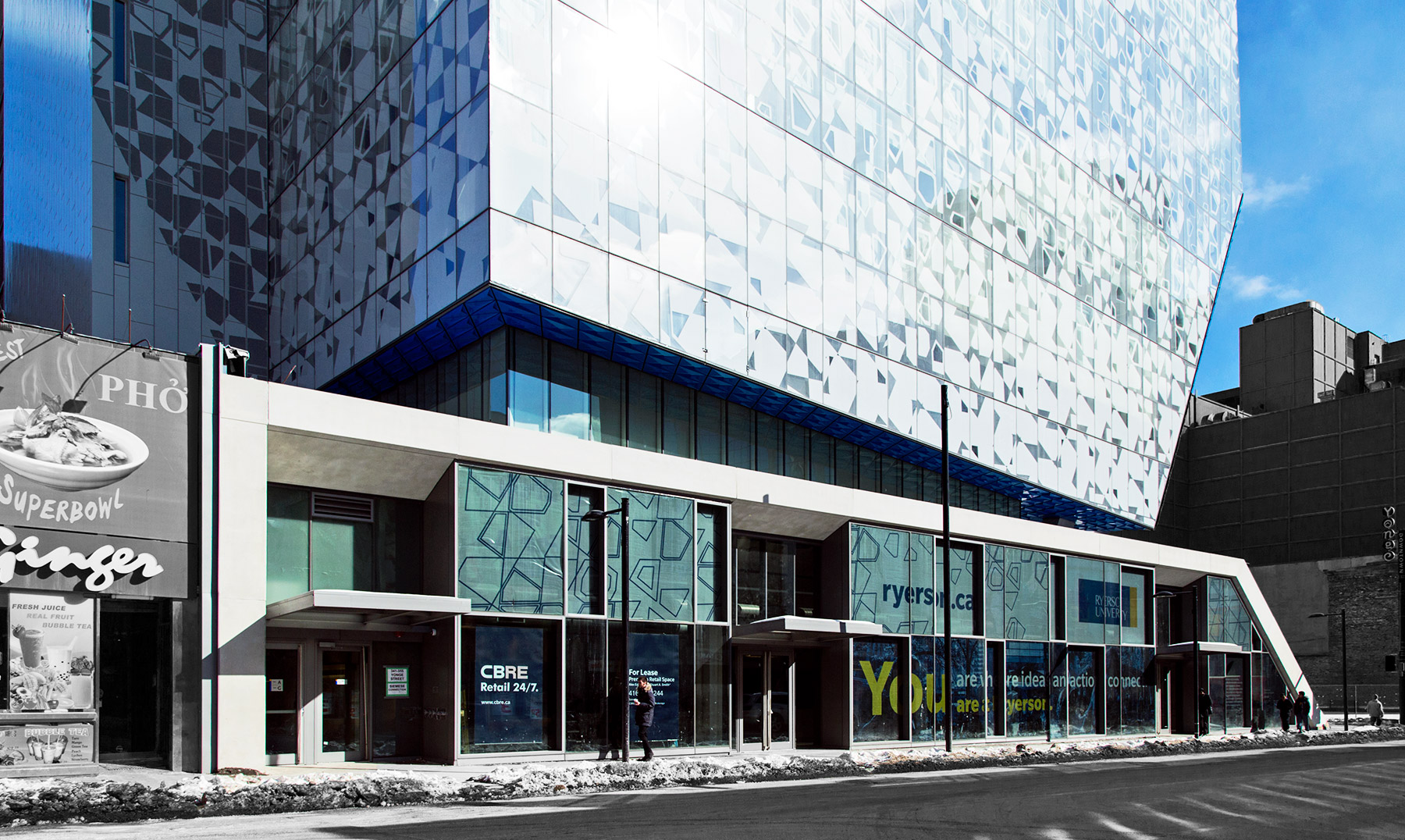 20150222. The indelible Yonge St face of Toronto's new Ryerson U