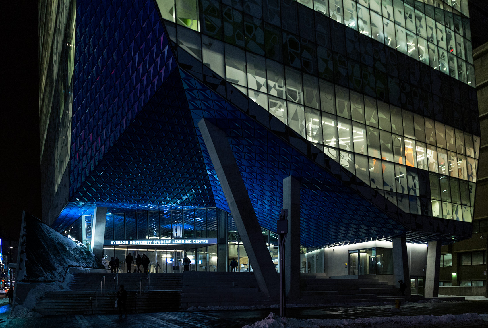 20150226. The Ryerson Student Learning Centre's dramatic entranc