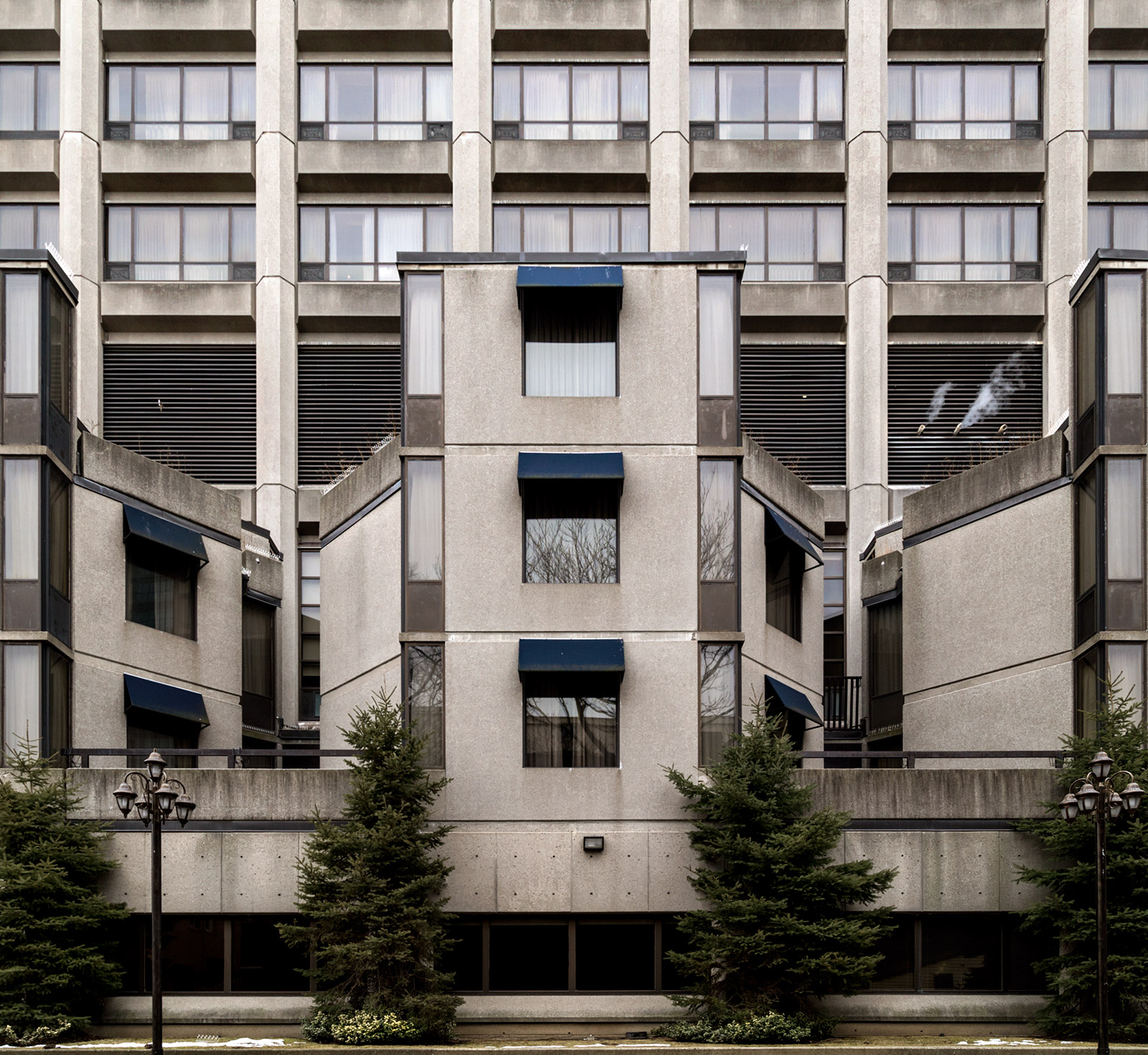 20150316.  Brutalism at The Grand Hotel and former RCMP Toronto