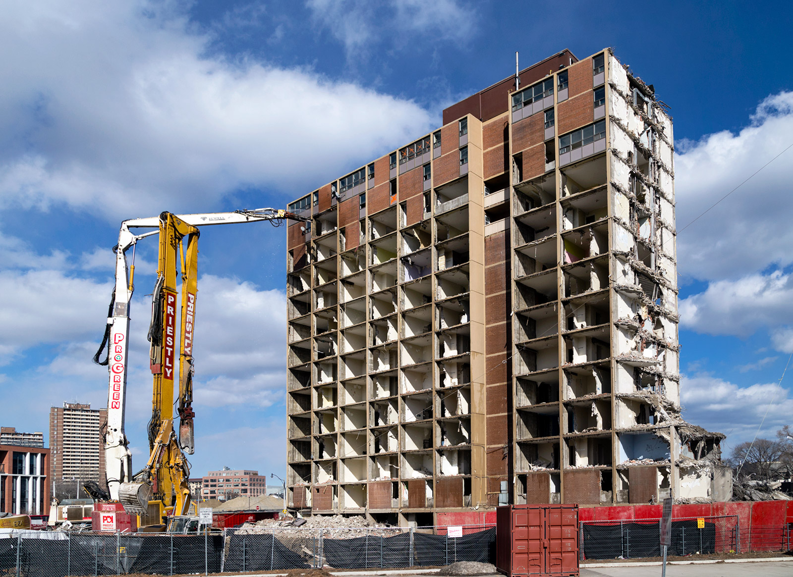 20150318. Demolition of the last Dickinson-designed modernist to