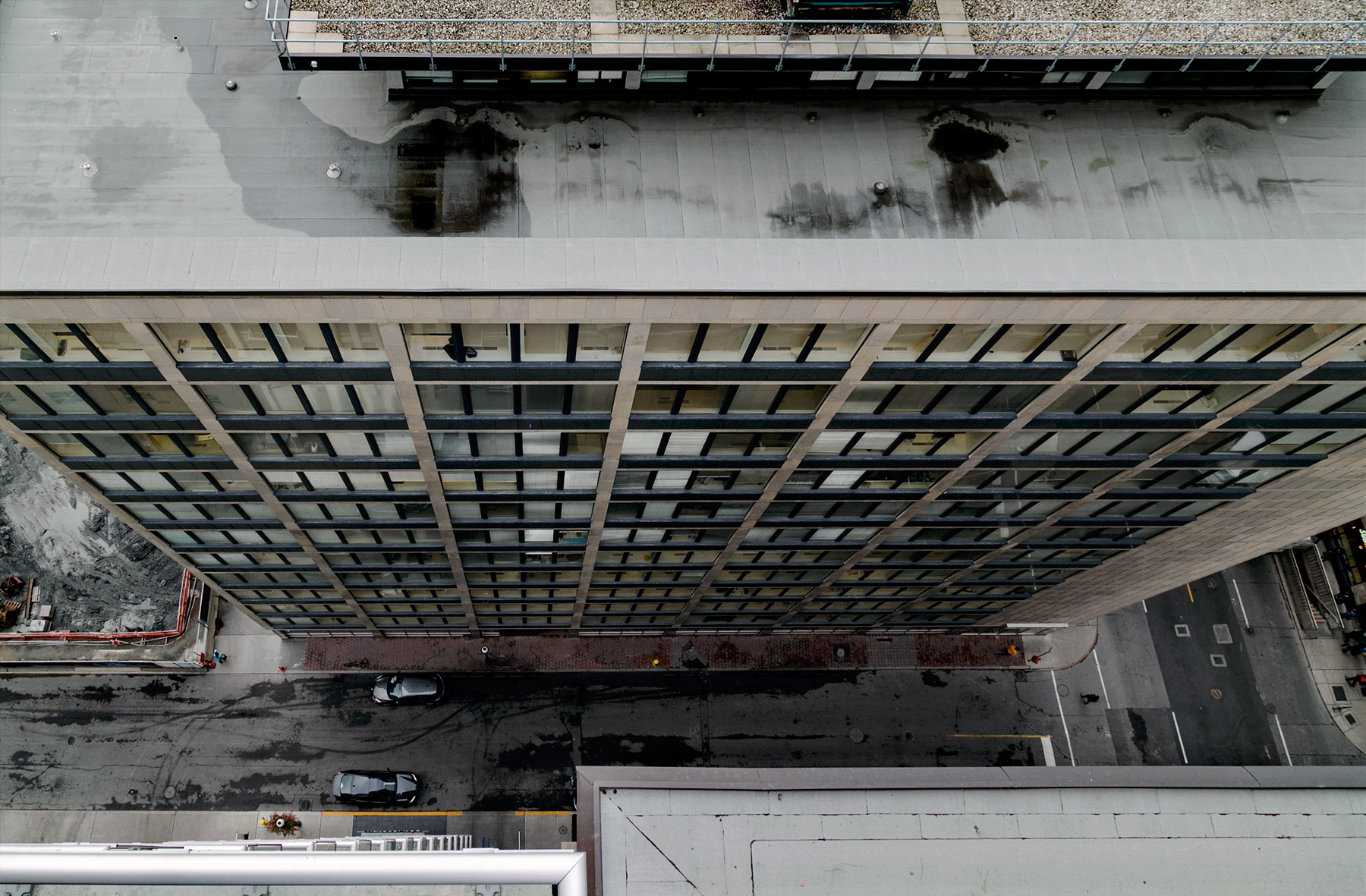 20150319. A modernist 55 Yonge is a cliff over the concrete cany
