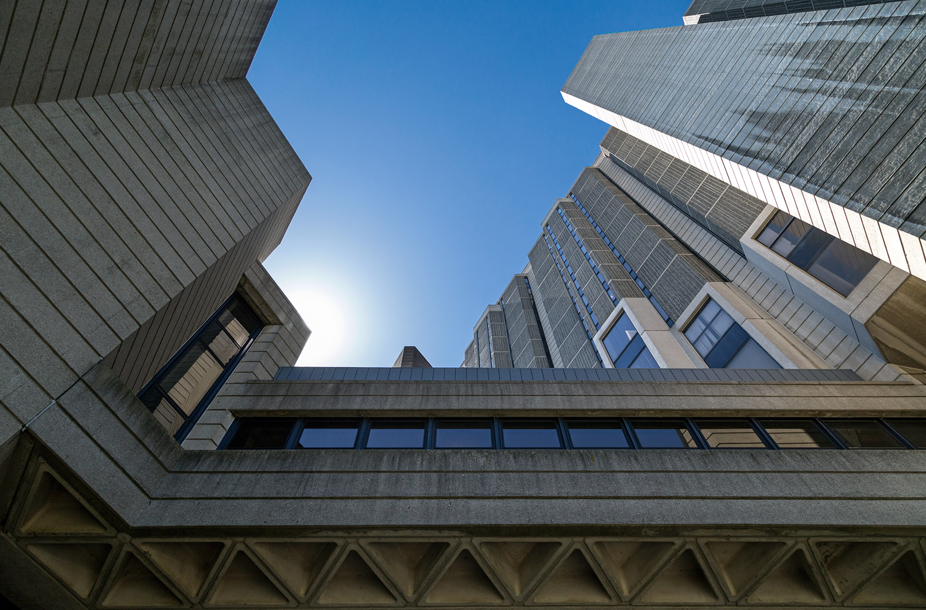20150530. Robarts ramparts protects the Library keep within at