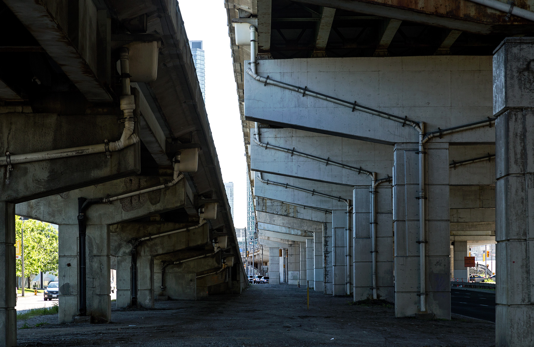 20150603. The Gardiner East Expressway is a cathedral of rust an