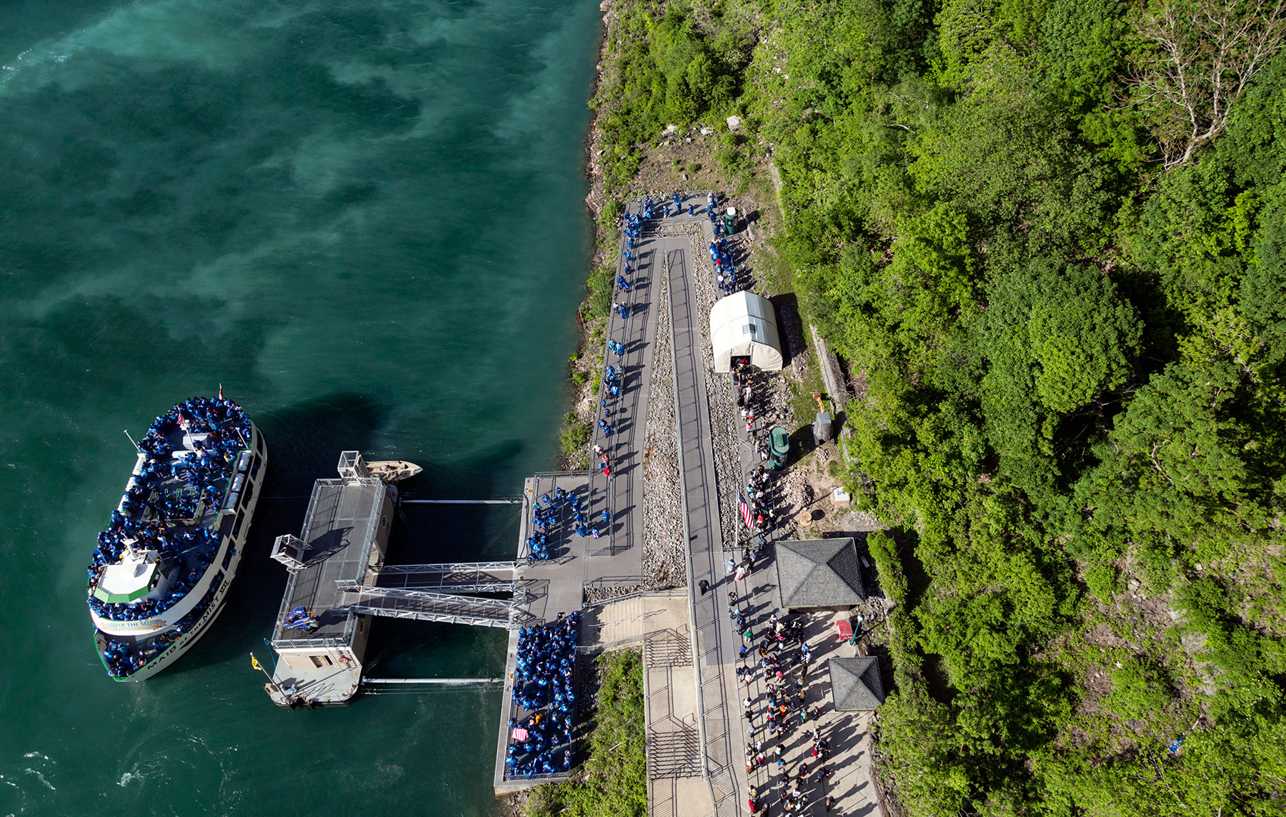 20150626. A sky view of getting ready to ride the Maid of the Mi