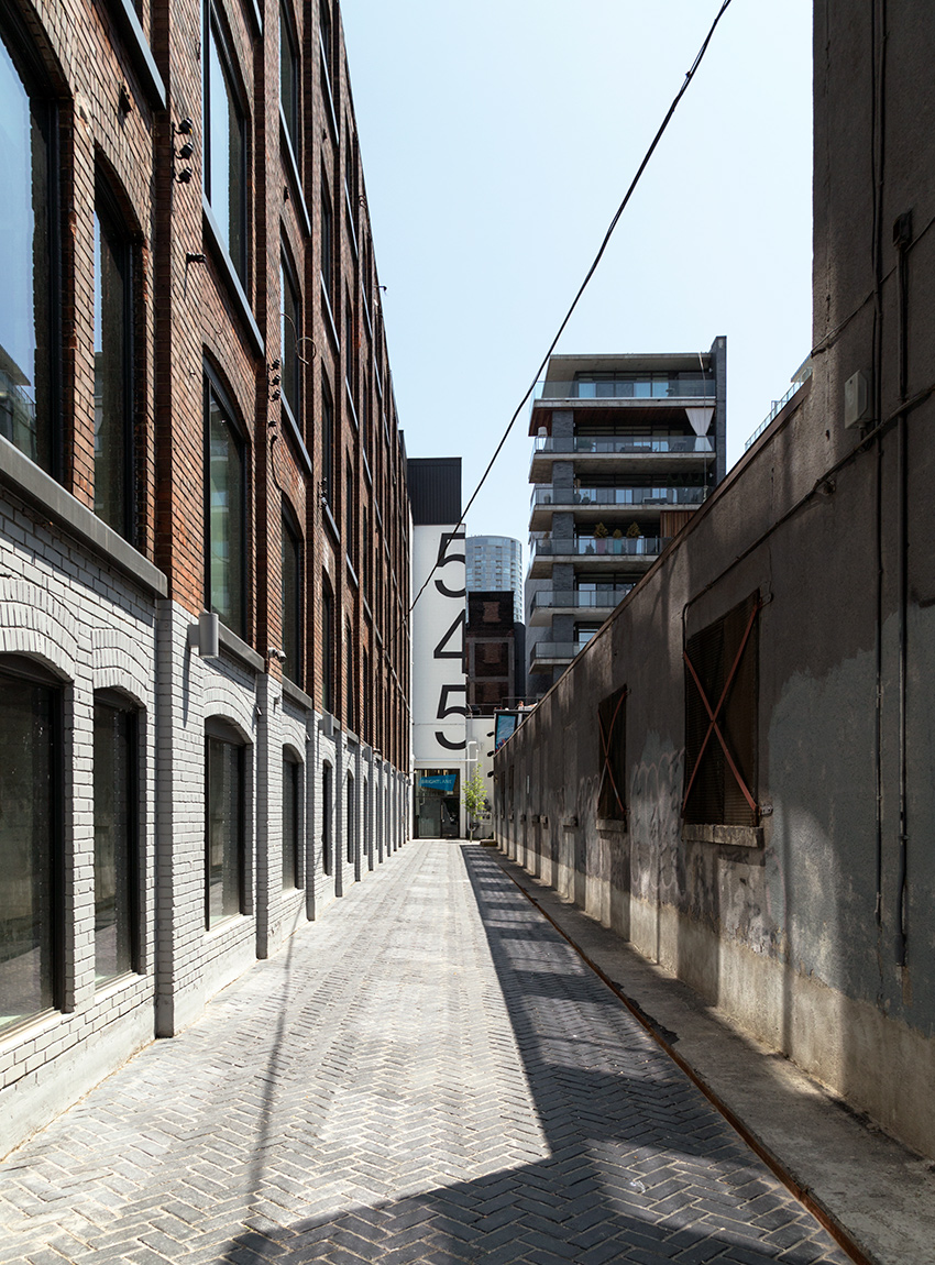 20150630. The adaptive reuse of 545 King St W, Toronto includes
