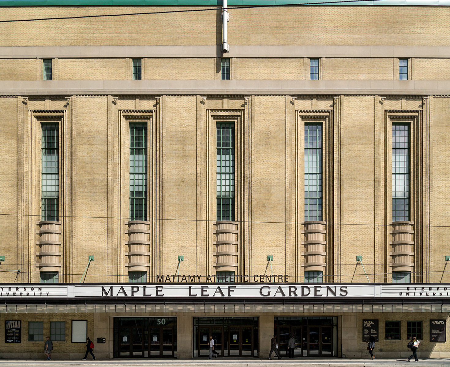 20150702. The art deco/ art moderne Maple Leaf Gardens, once a c