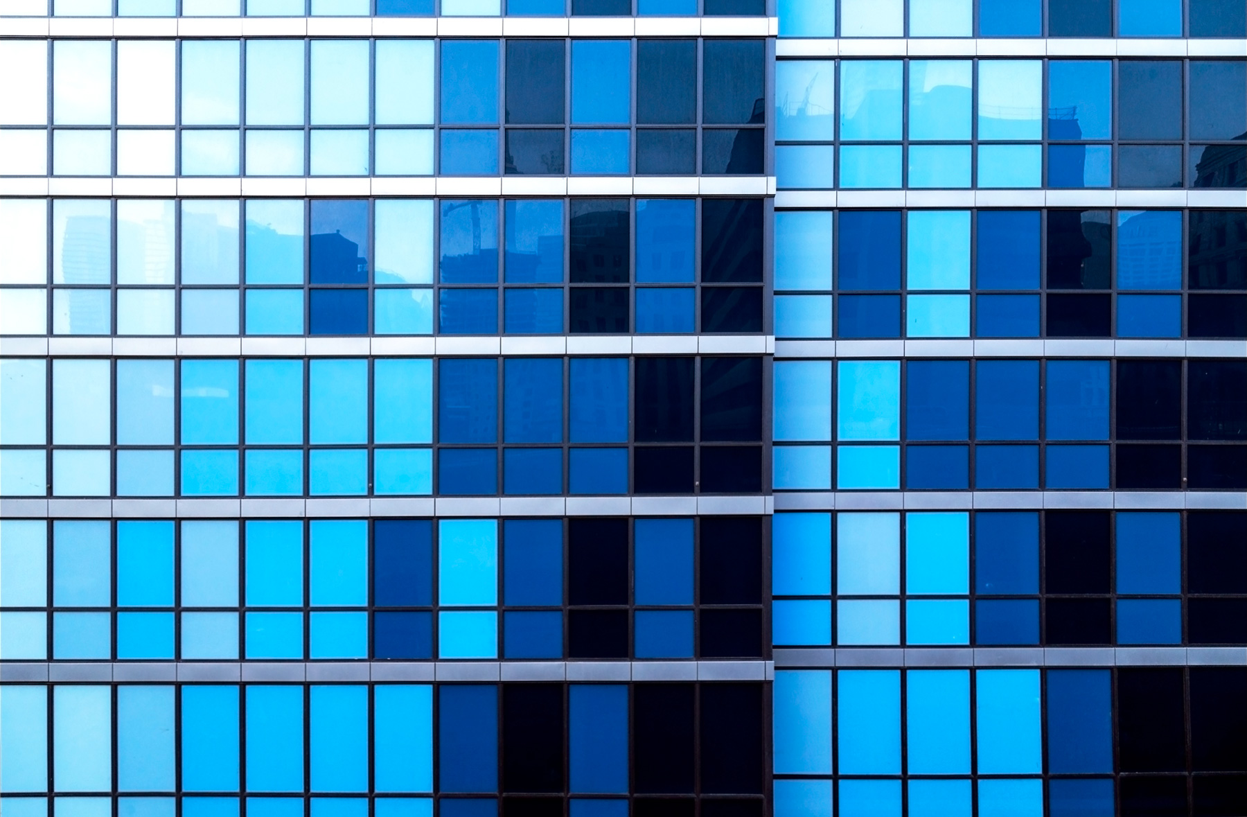 20150713. Six shades of blue at Toronto's 210 Simcoe condos. Min