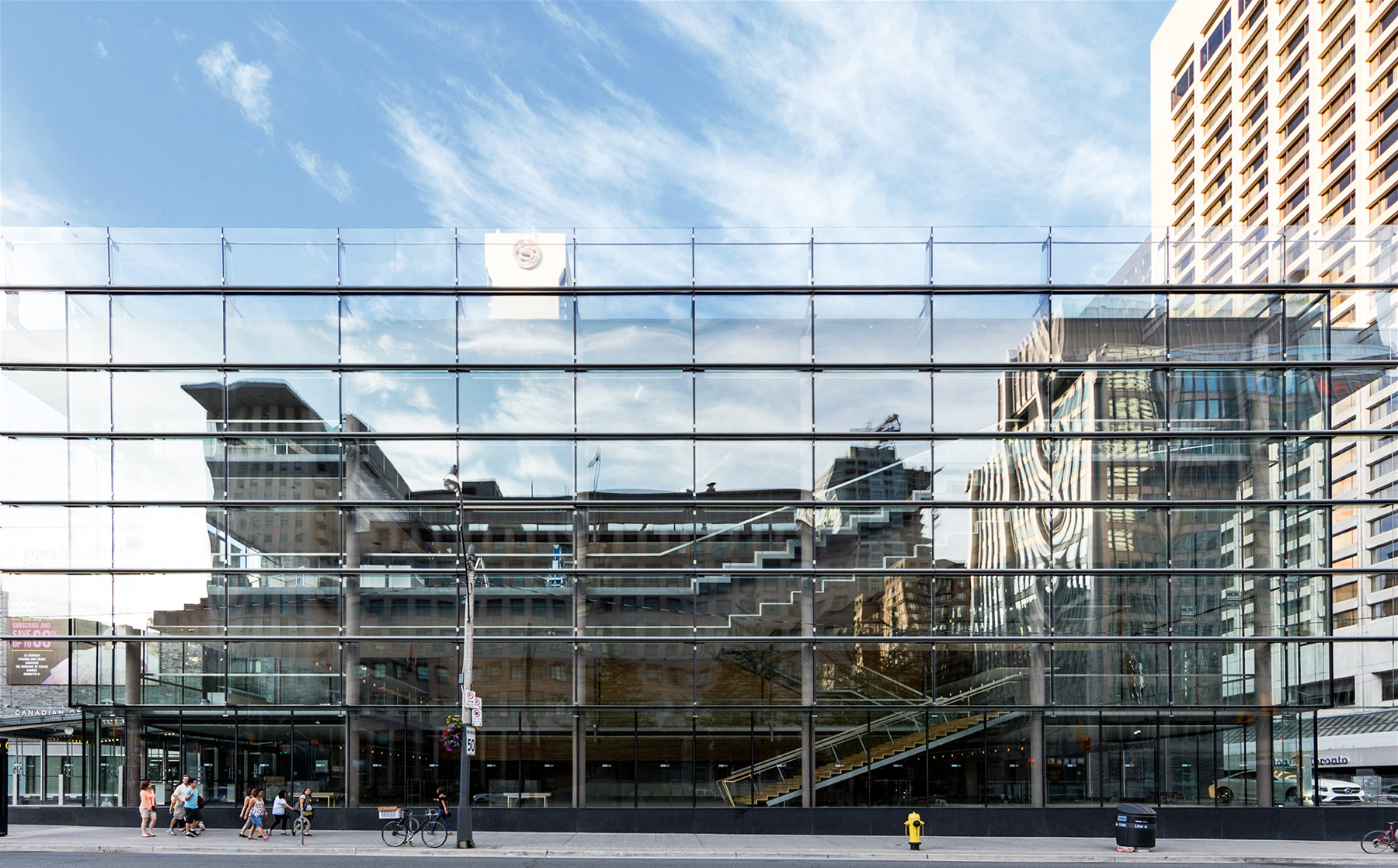20150727. The transparent yet reflective glass curtain wall of t