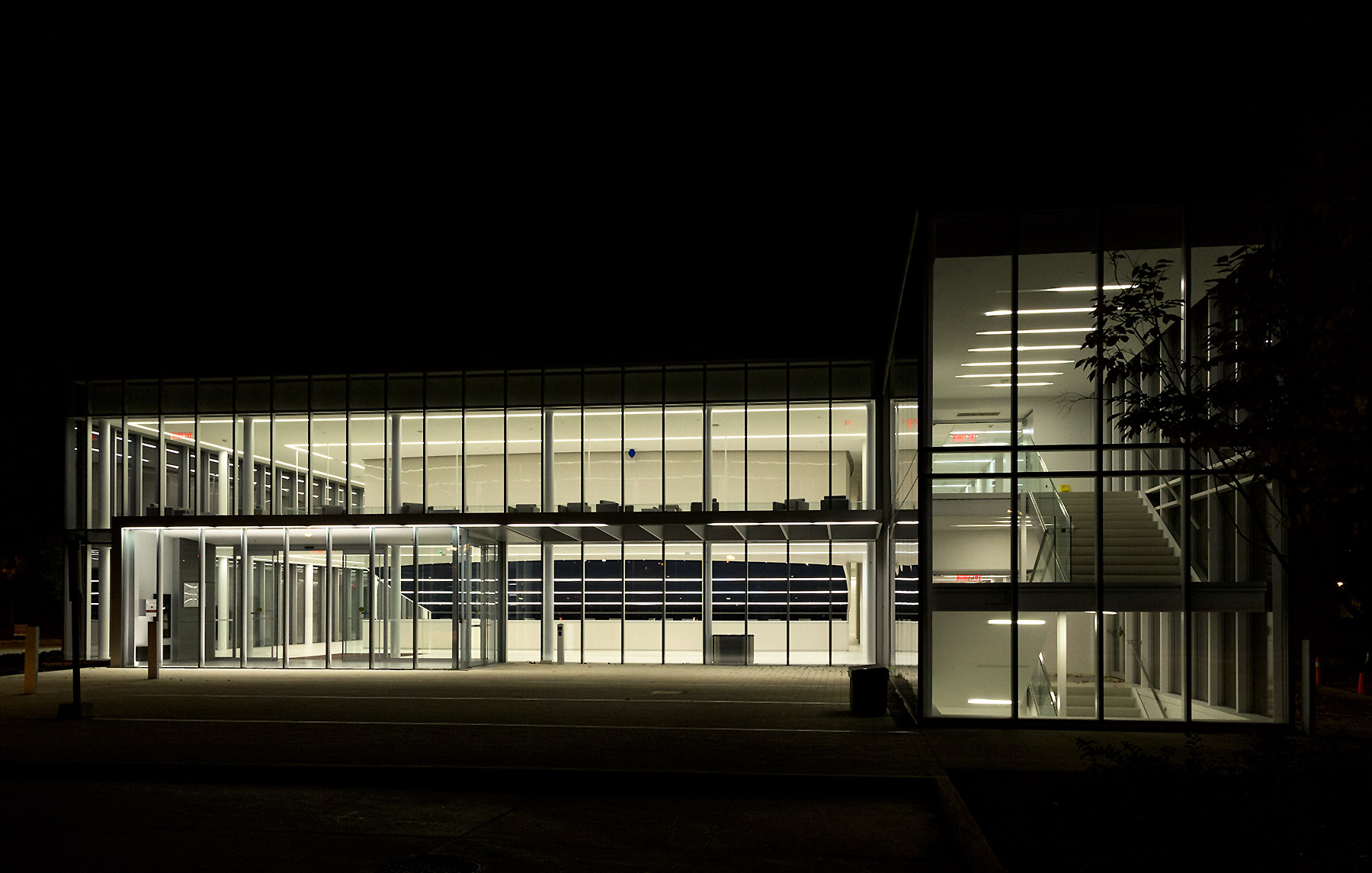 20151012. The Centre of Excellence is a lightbox at night. Glend