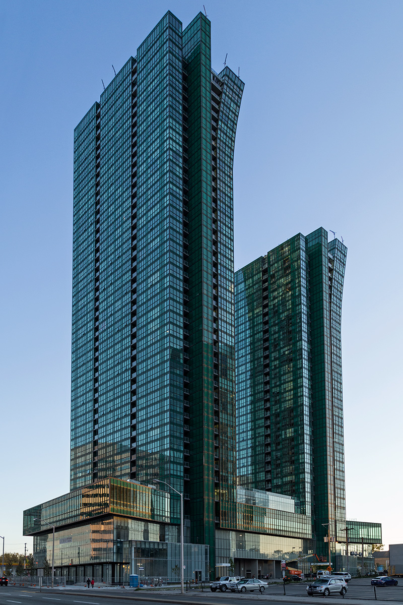 20151014. North York's impressive new Emerald Park Condominiums.