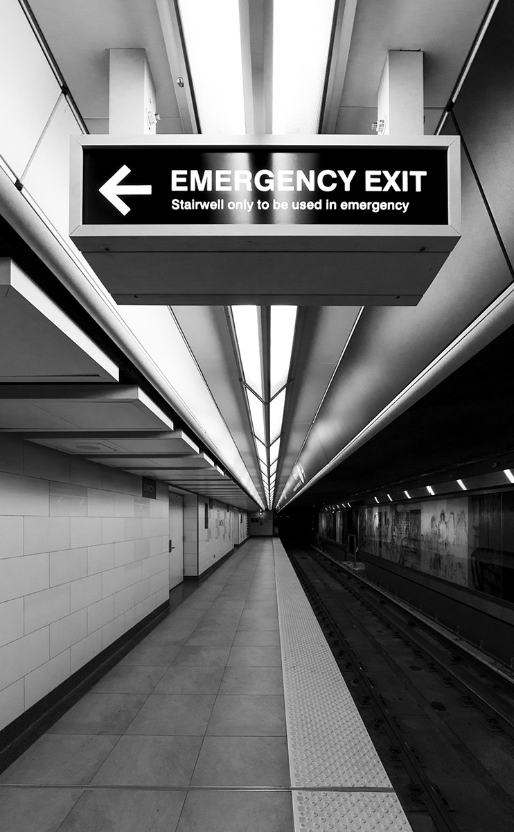 20151101. Know your emergency exits! Toronto's TTC Union Station