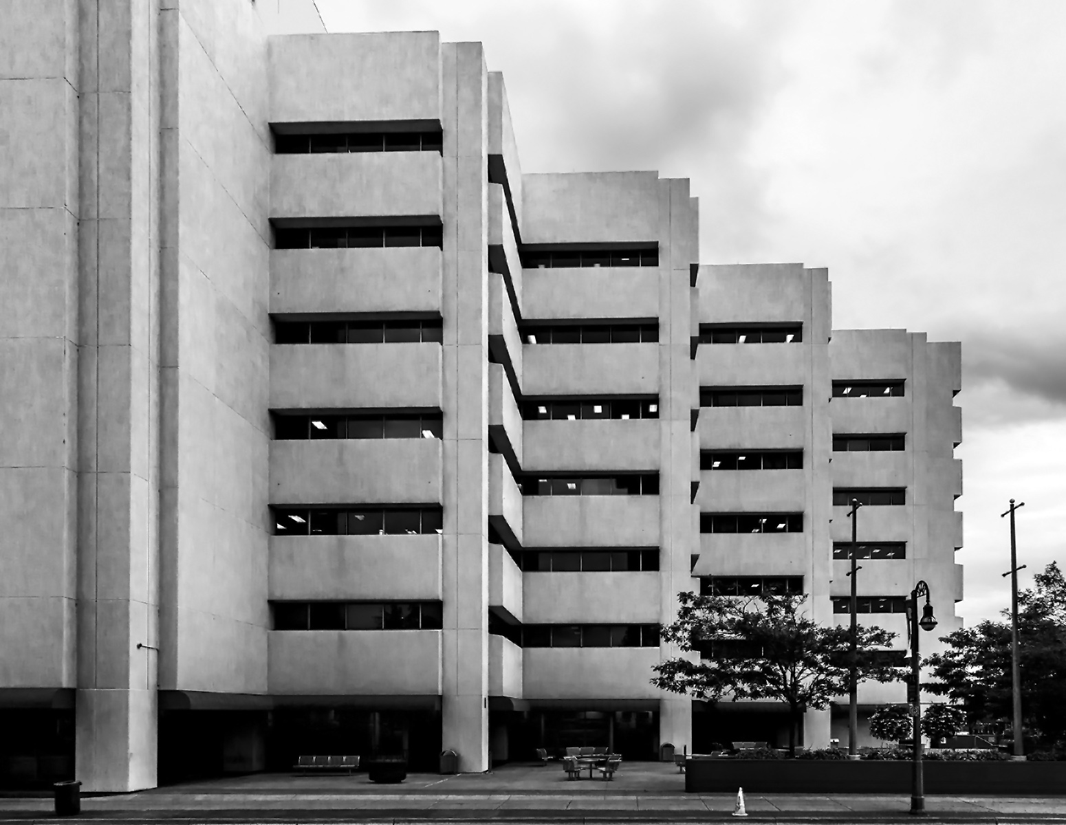 20151107. Blocks of Brutalism in perspective at Oshawa's Ontario