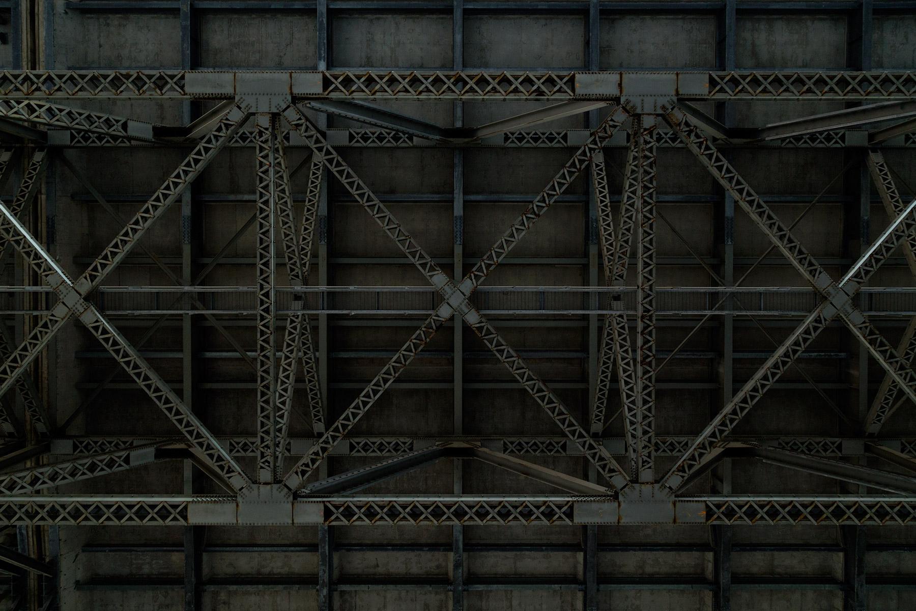20151202. Under an under deck truss bridge.
