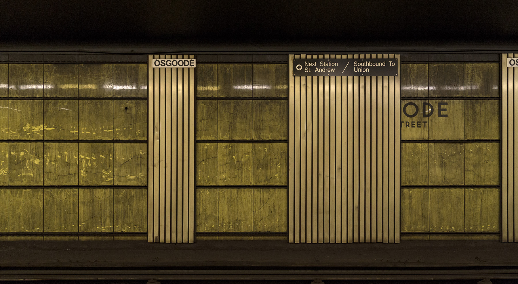 20151207. Osgoode subway station's removed siding reveals the or