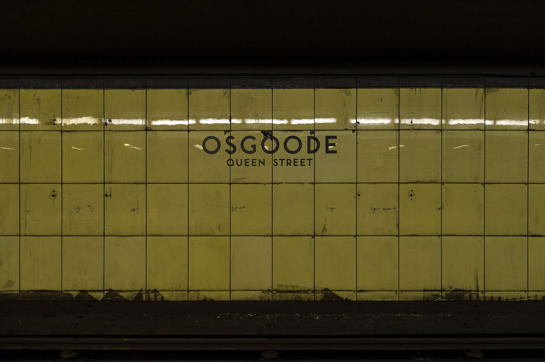 20151209. This is what Osgoode subway station looked like in 196