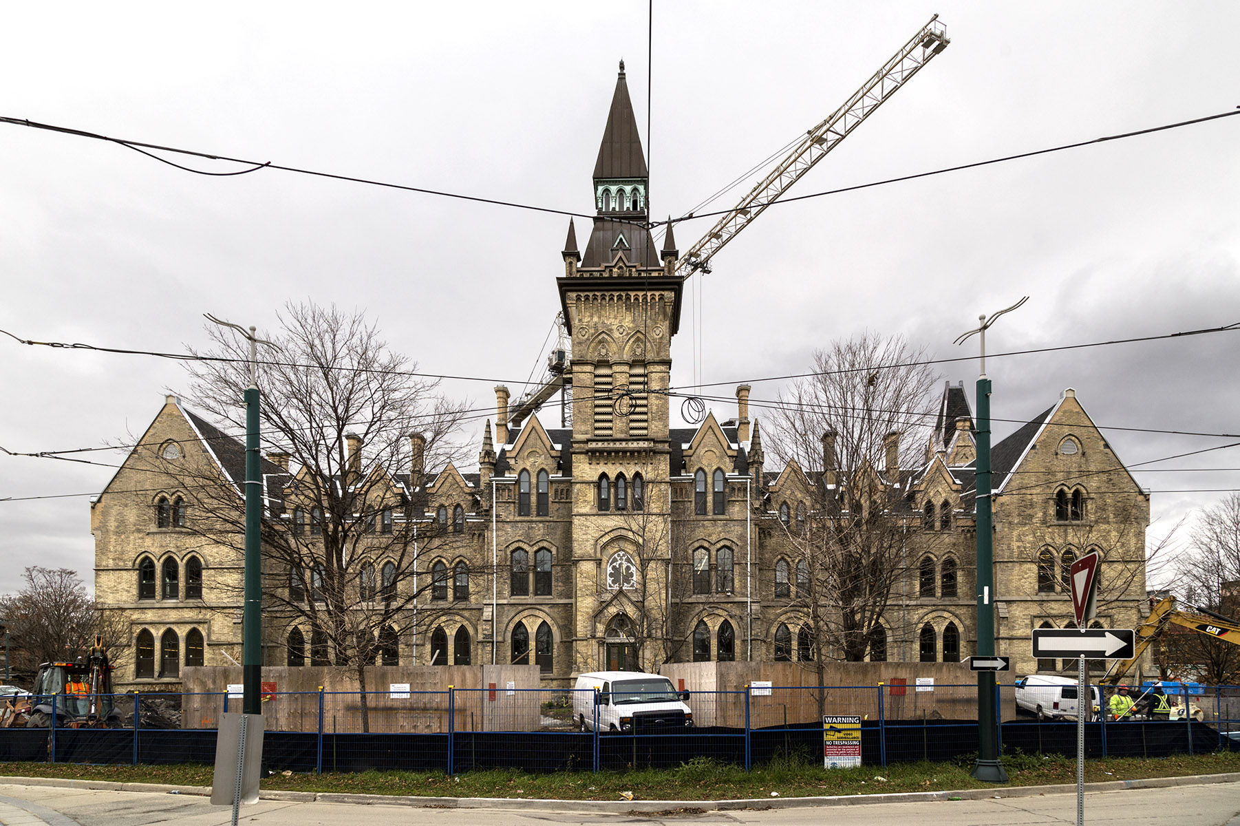 20151216. Renovations of the existing heritage building at Unive
