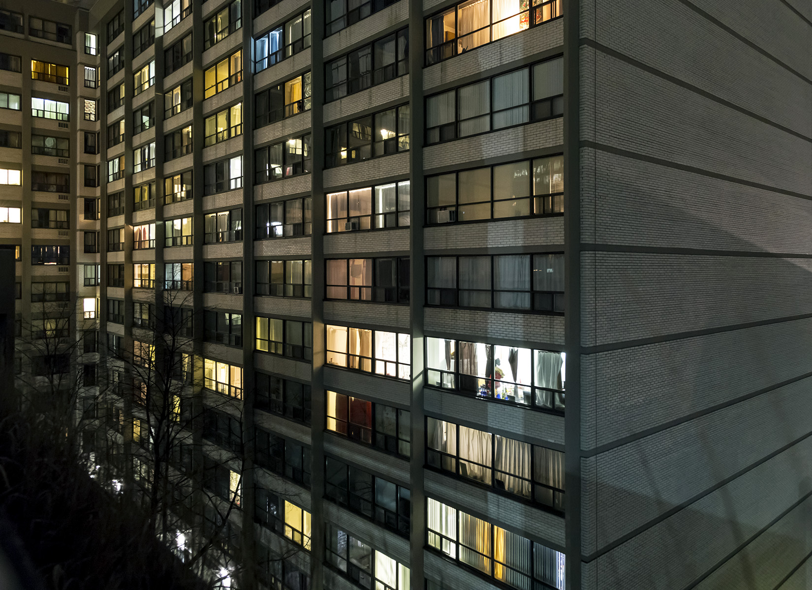 20151226. The windows of people's lives....in a modernist high-r