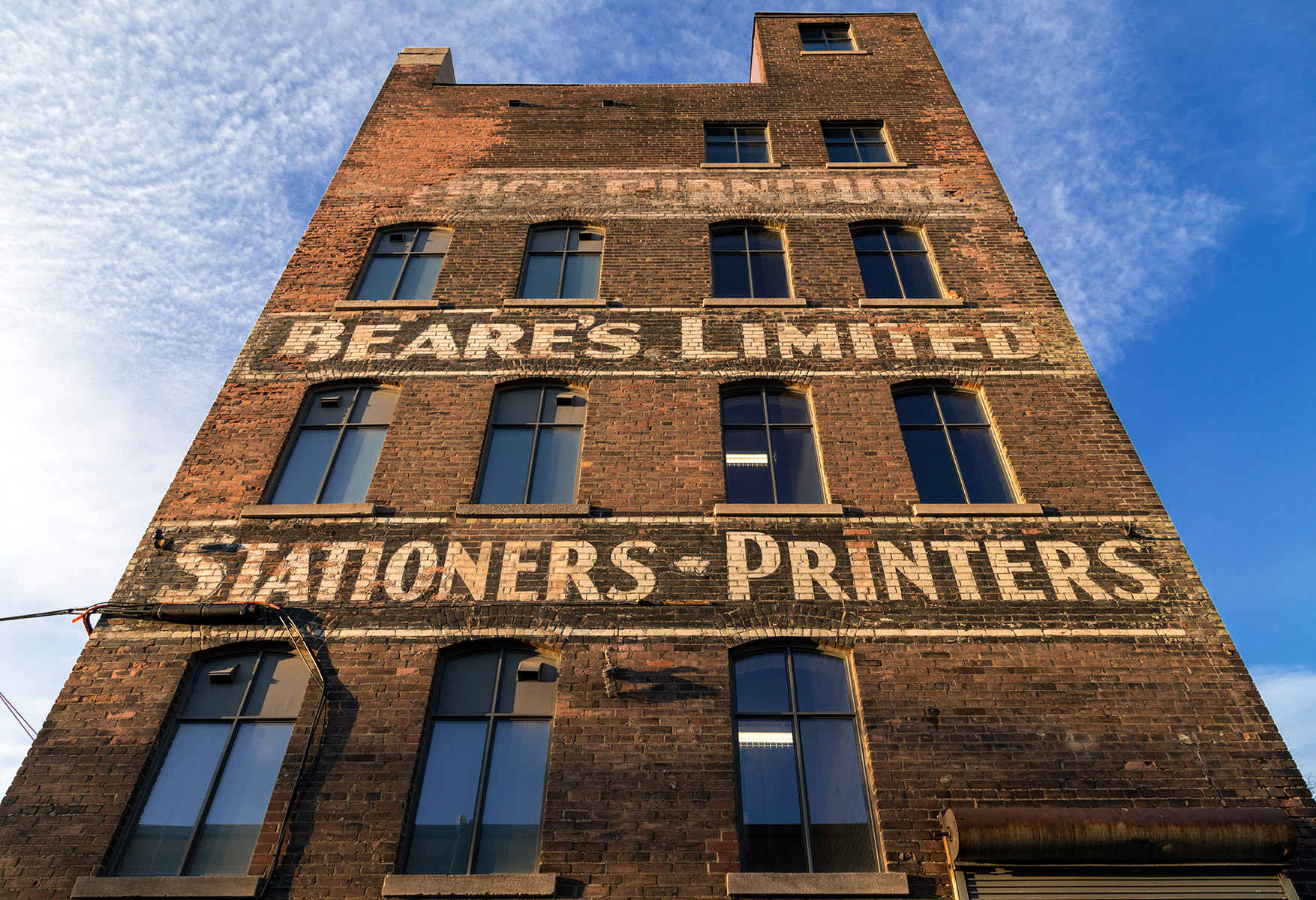 20160206. Beare's Limited, a five story brick and beam buildin