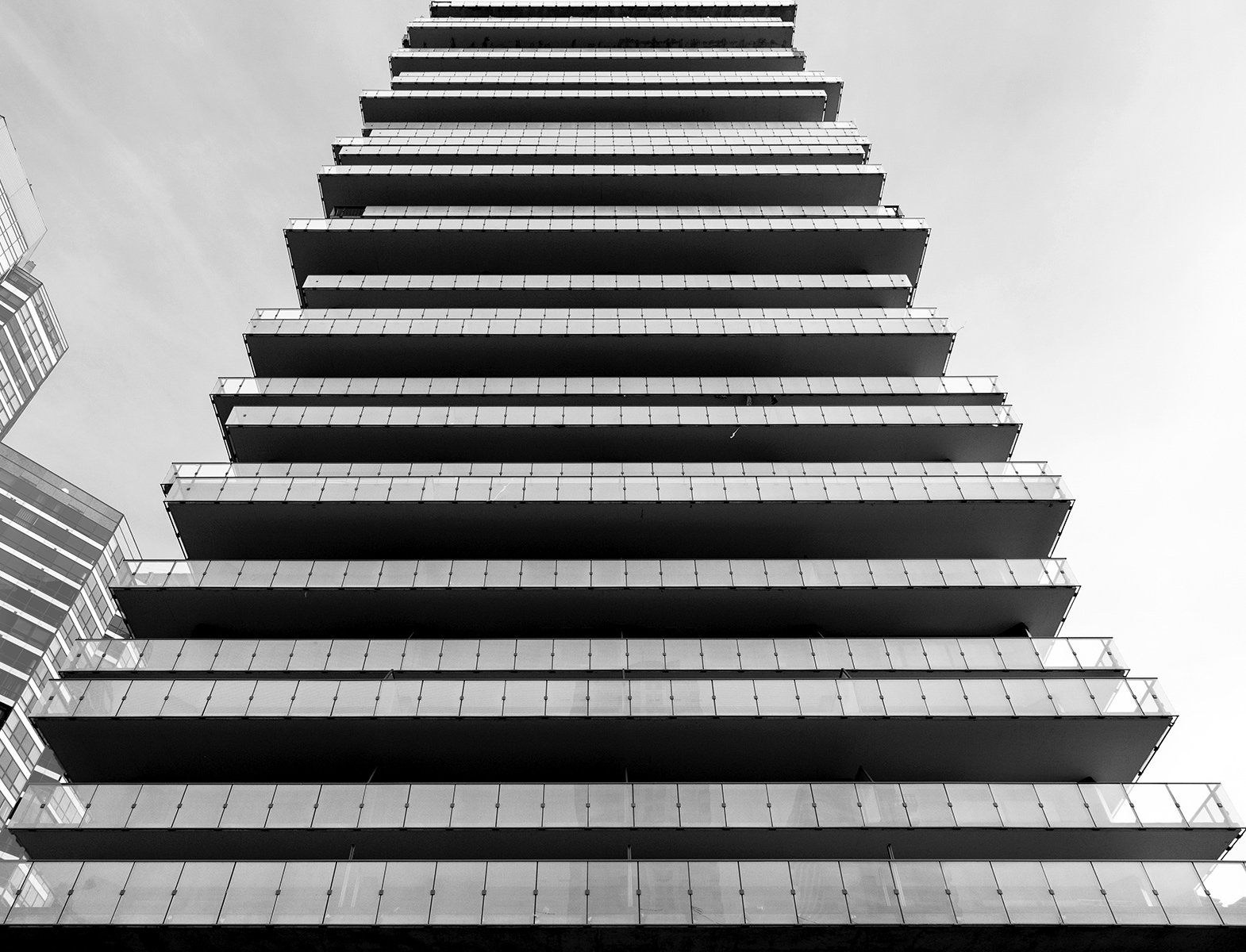20160229. The shifting balconies of the 1Thousand Bay Condos.