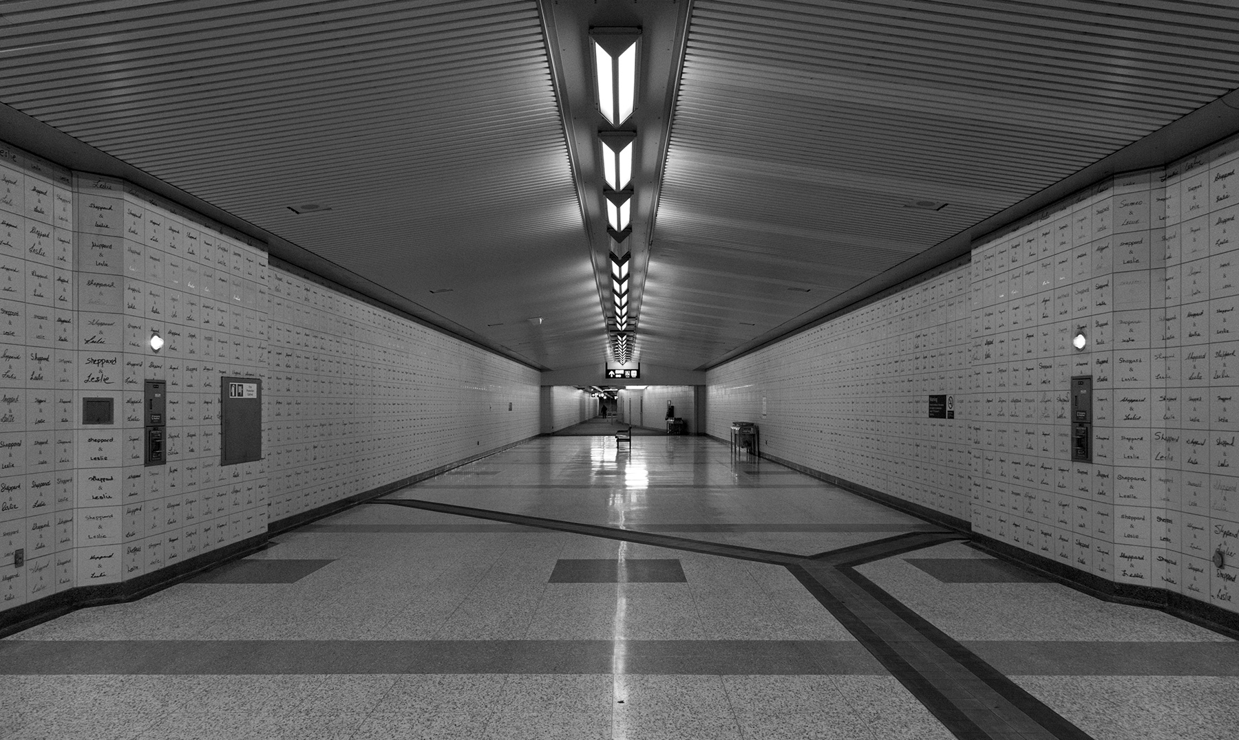 20160310. The cavernous Leslie station on the underused Sheppard