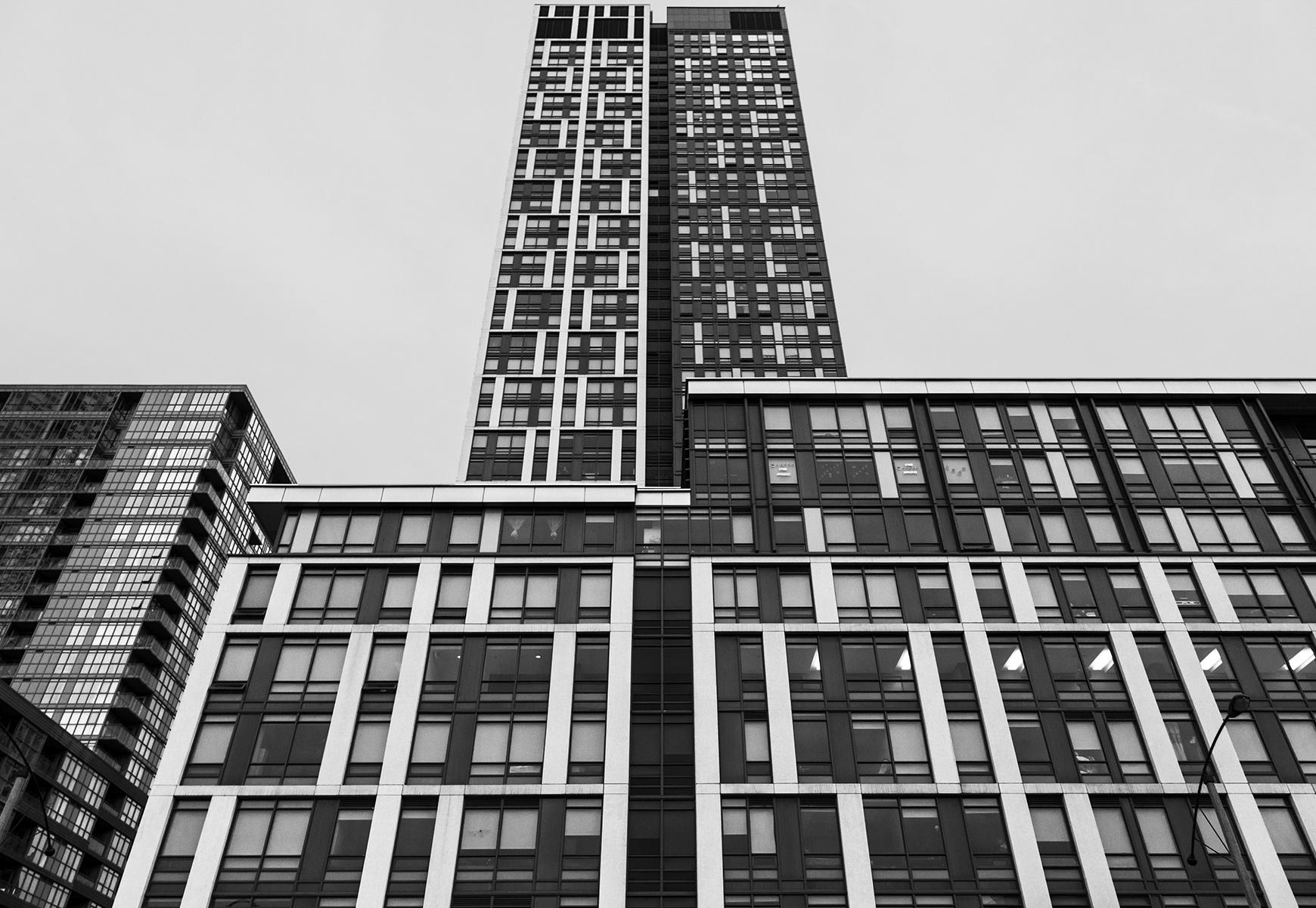 20160315. Peering up Cityplace's Block 32 at bold Toronto Commun